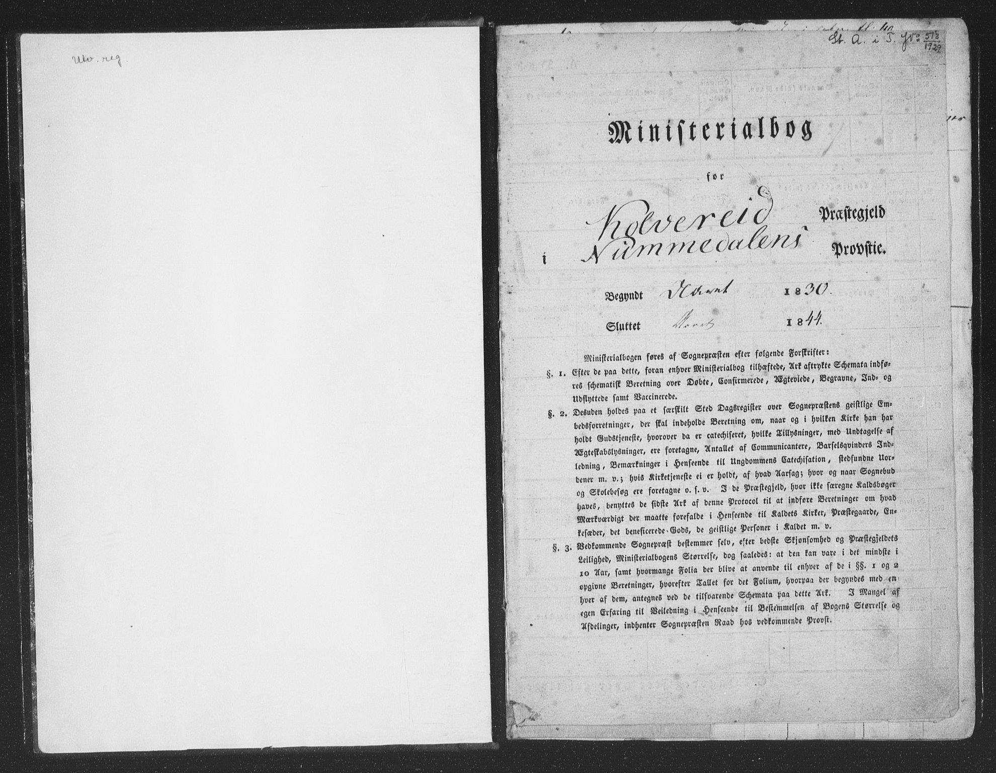 SAT, Ministerialprotokoller, klokkerbøker og fødselsregistre - Nord-Trøndelag, 780/L0639: Ministerialbok nr. 780A04, 1830-1844