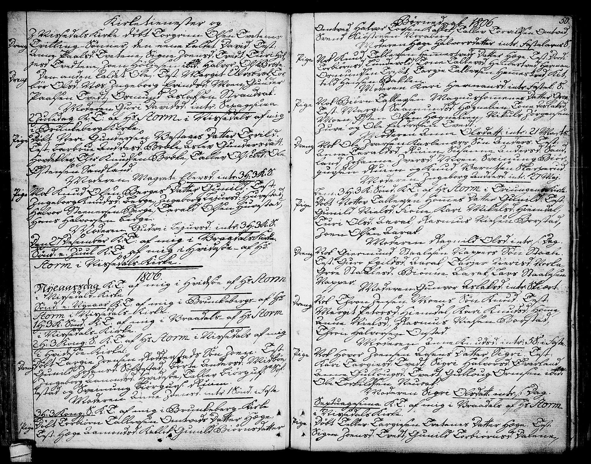 SAKO, Kviteseid kirkebøker, F/Fa/L0004: Ministerialbok nr. I 4, 1800-1814, s. 50