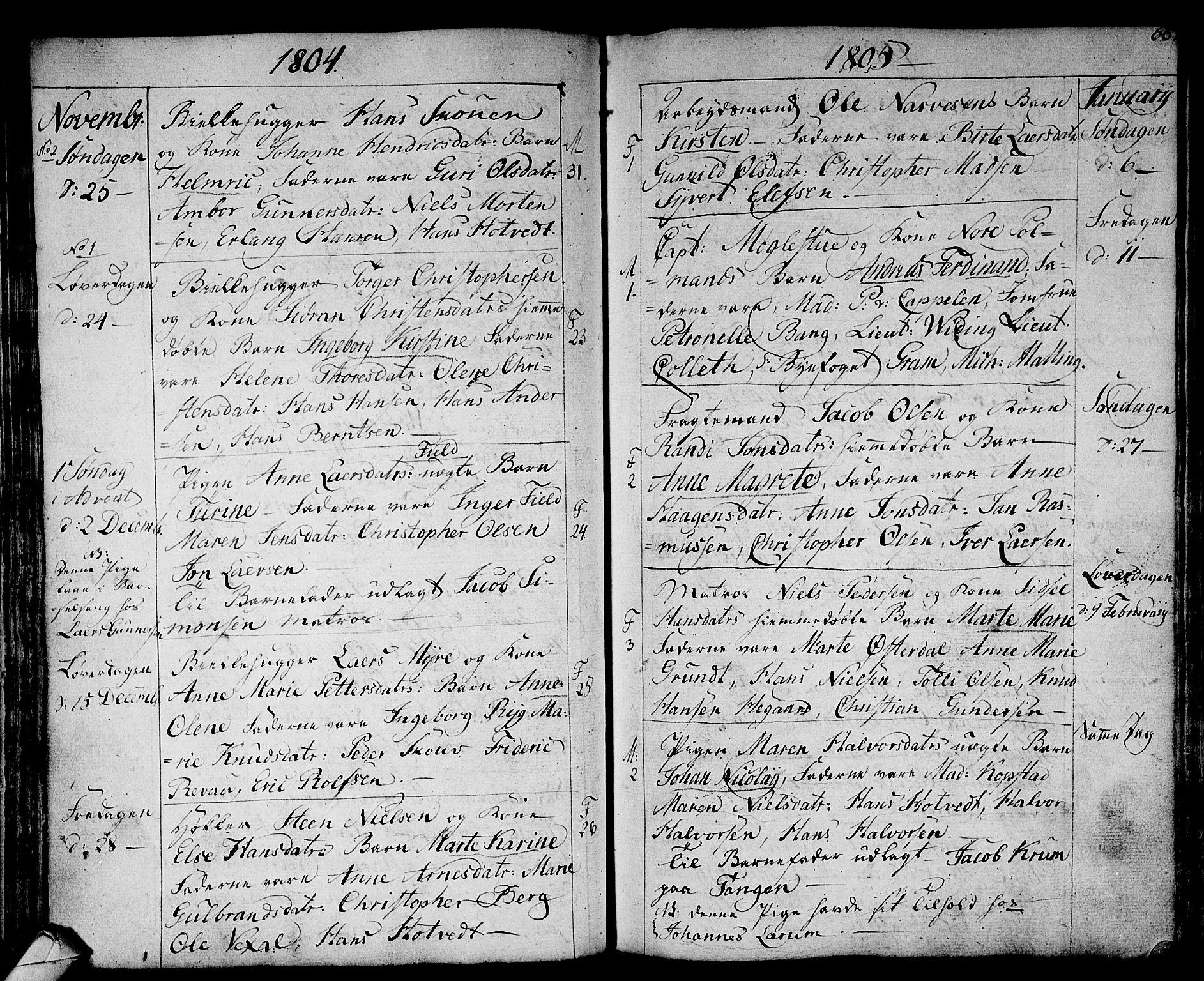 SAKO, Strømsø kirkebøker, F/Fa/L0010: Ministerialbok nr. I 10, 1792-1822, s. 66
