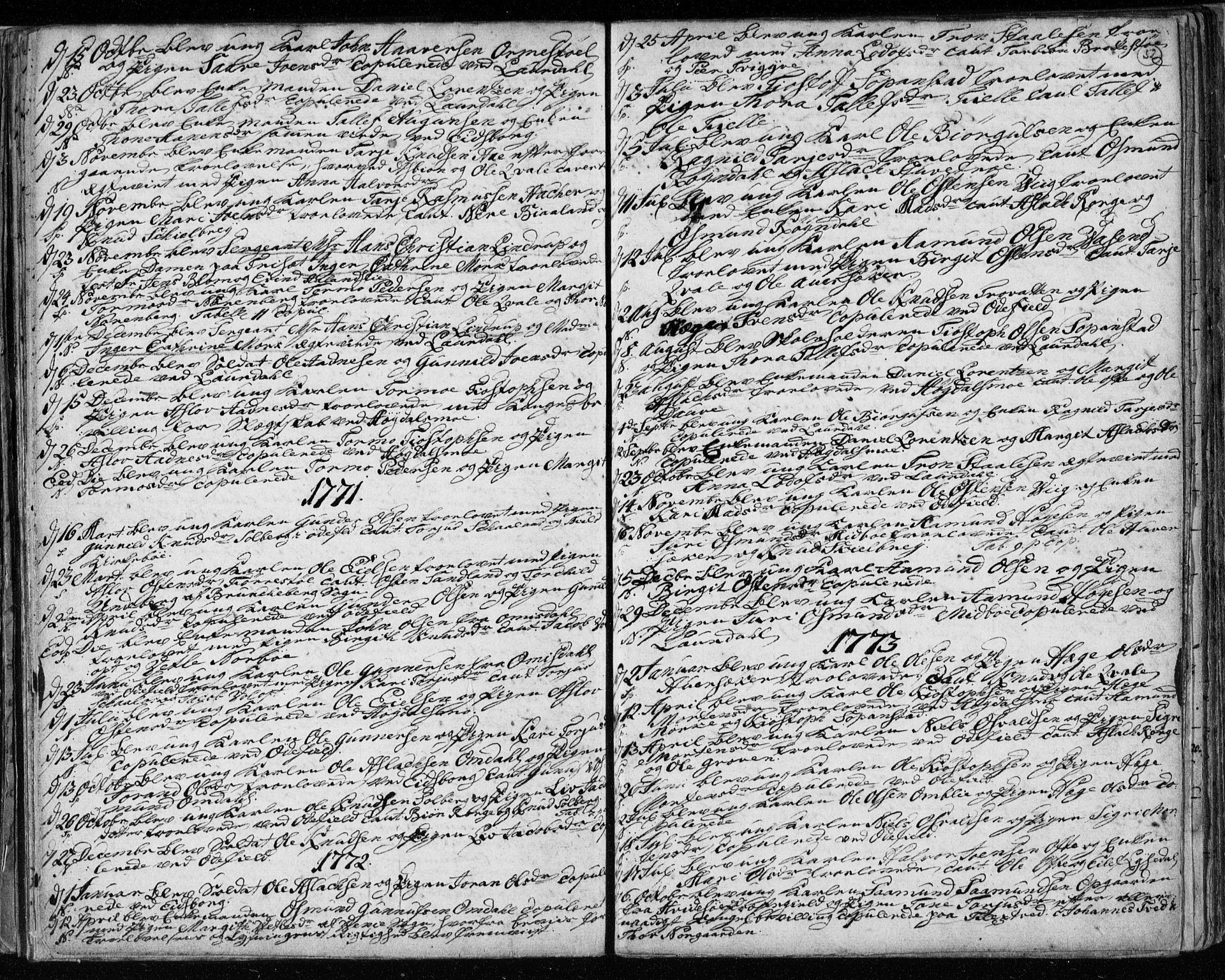SAKO, Lårdal kirkebøker, F/Fa/L0003: Ministerialbok nr. I 3, 1754-1790, s. 52