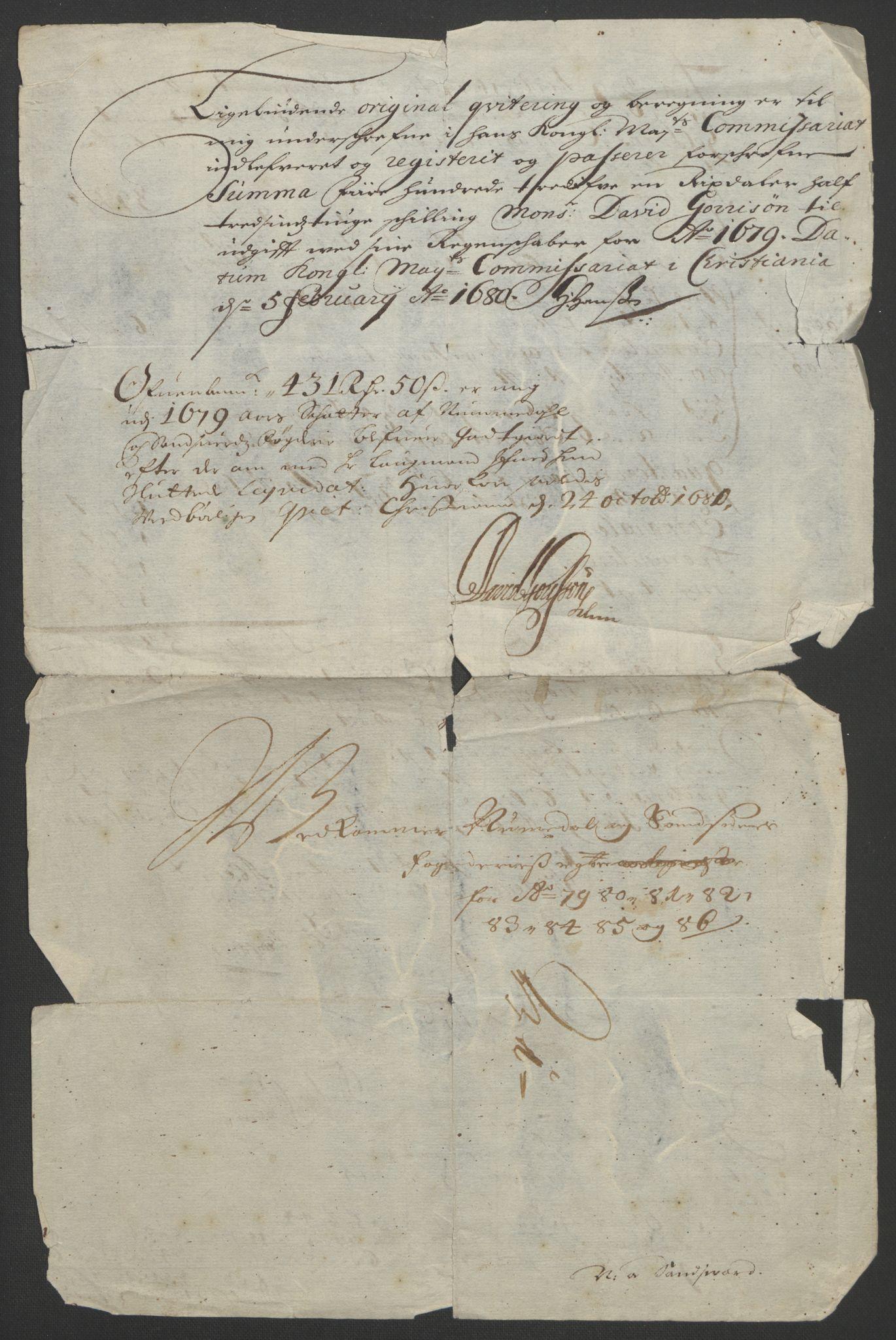 RA, Rentekammeret inntil 1814, Reviderte regnskaper, Fogderegnskap, R24/L1572: Fogderegnskap Numedal og Sandsvær, 1679-1686, s. 197