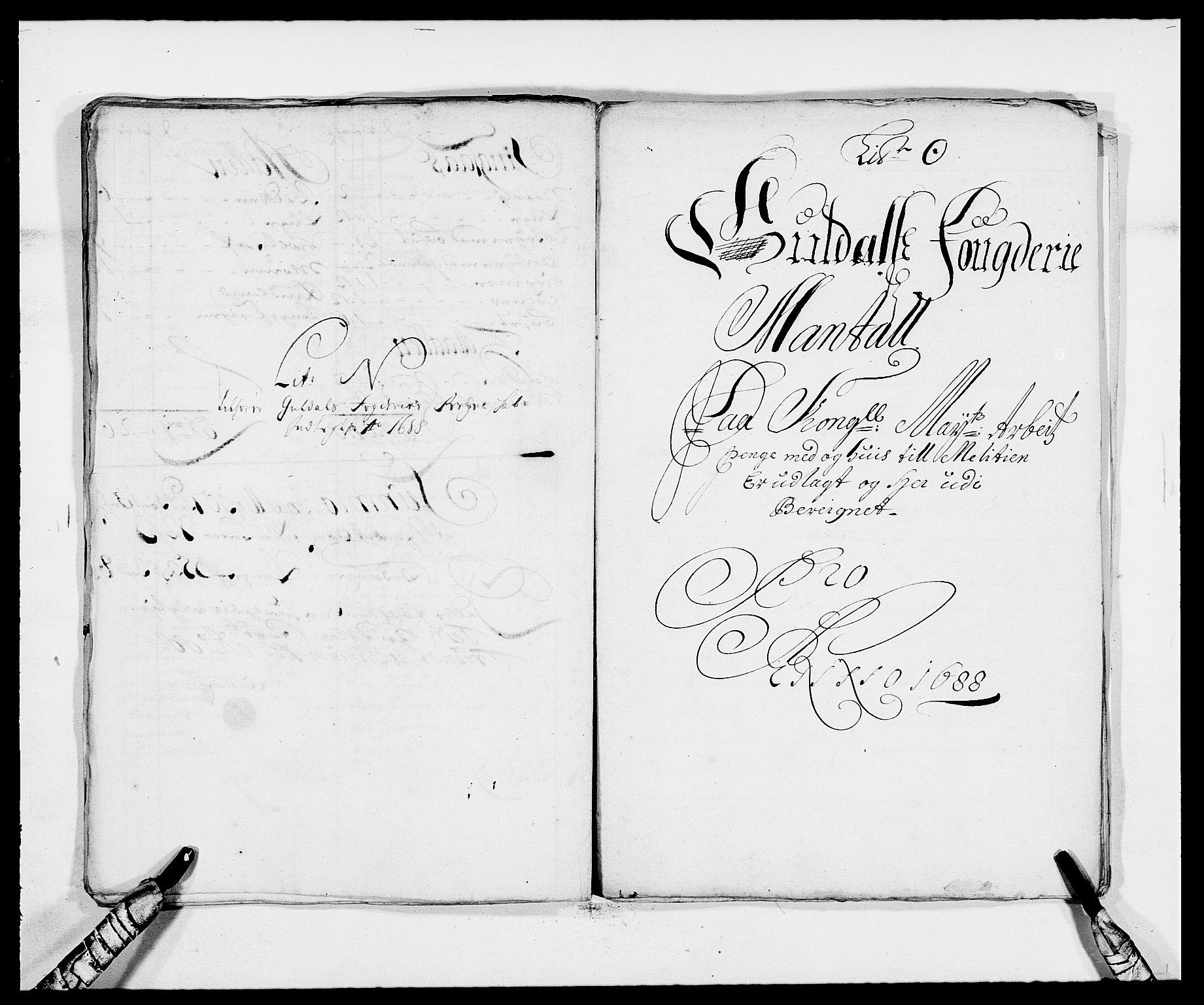 RA, Rentekammeret inntil 1814, Reviderte regnskaper, Fogderegnskap, R59/L3939: Fogderegnskap Gauldal, 1687-1688, s. 277