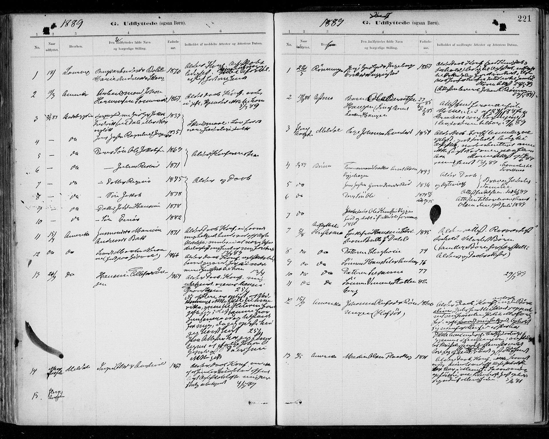 SAT, Ministerialprotokoller, klokkerbøker og fødselsregistre - Sør-Trøndelag, 668/L0810: Ministerialbok nr. 668A10, 1881-1894, s. 221