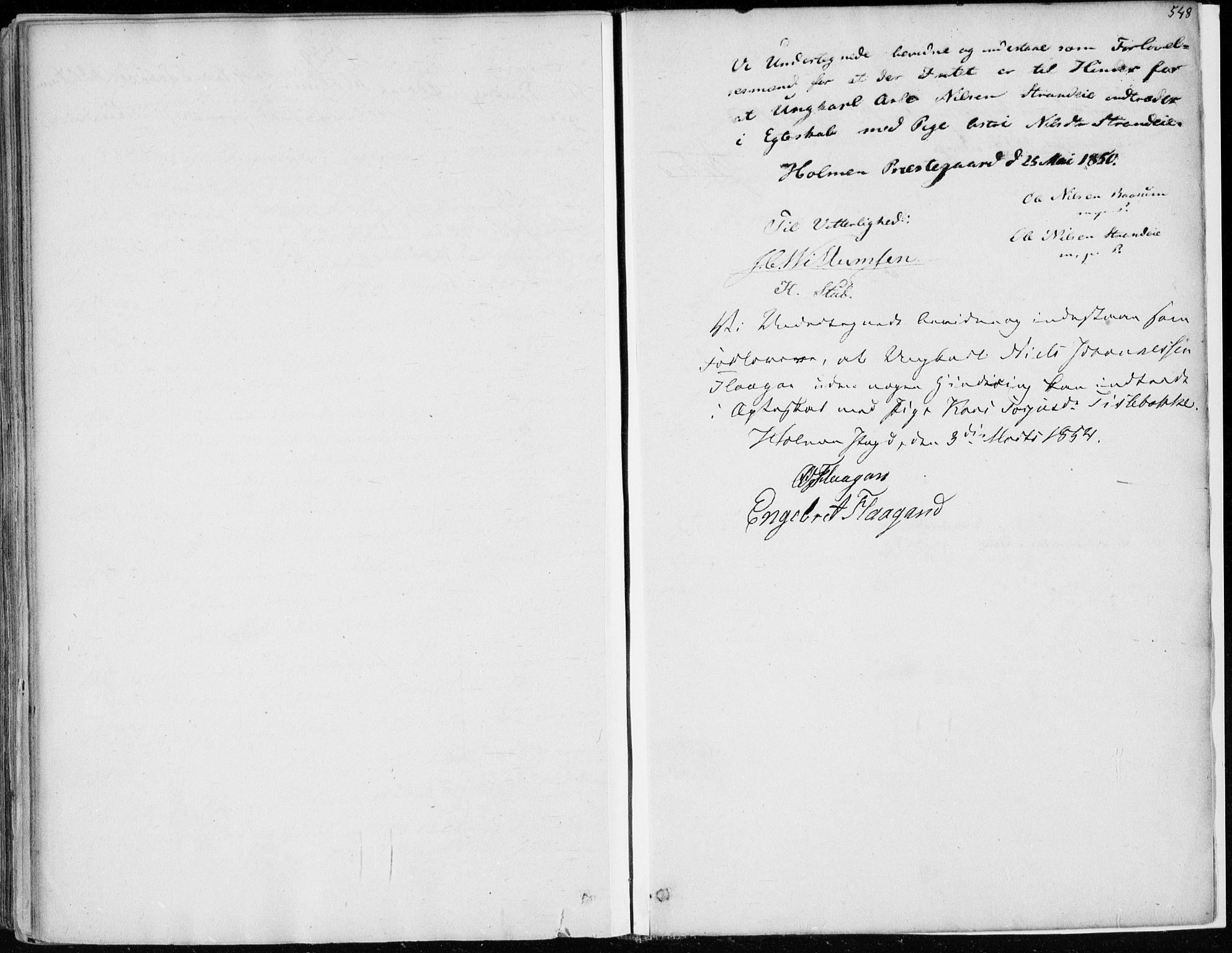SAKO, Sigdal kirkebøker, F/Fa/L0008: Ministerialbok nr. I 8, 1850-1859, s. 548