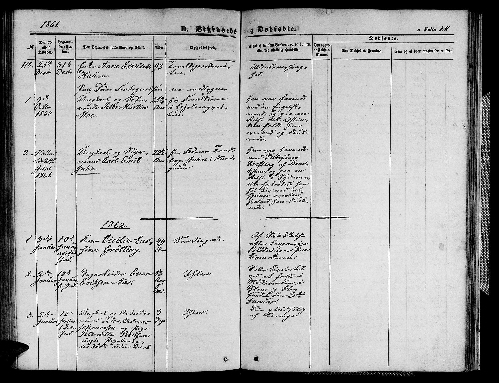 SAT, Ministerialprotokoller, klokkerbøker og fødselsregistre - Sør-Trøndelag, 602/L0139: Klokkerbok nr. 602C07, 1859-1864, s. 311