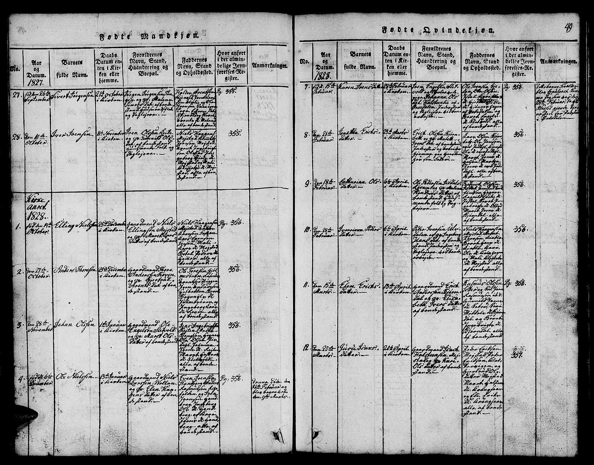 SAT, Ministerialprotokoller, klokkerbøker og fødselsregistre - Sør-Trøndelag, 665/L0776: Klokkerbok nr. 665C01, 1817-1837, s. 49