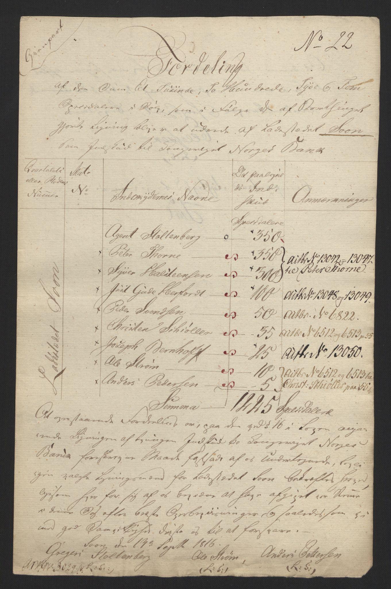 NOBA, Norges Bank/Sølvskatten 1816*, 1816-1820, s. 59