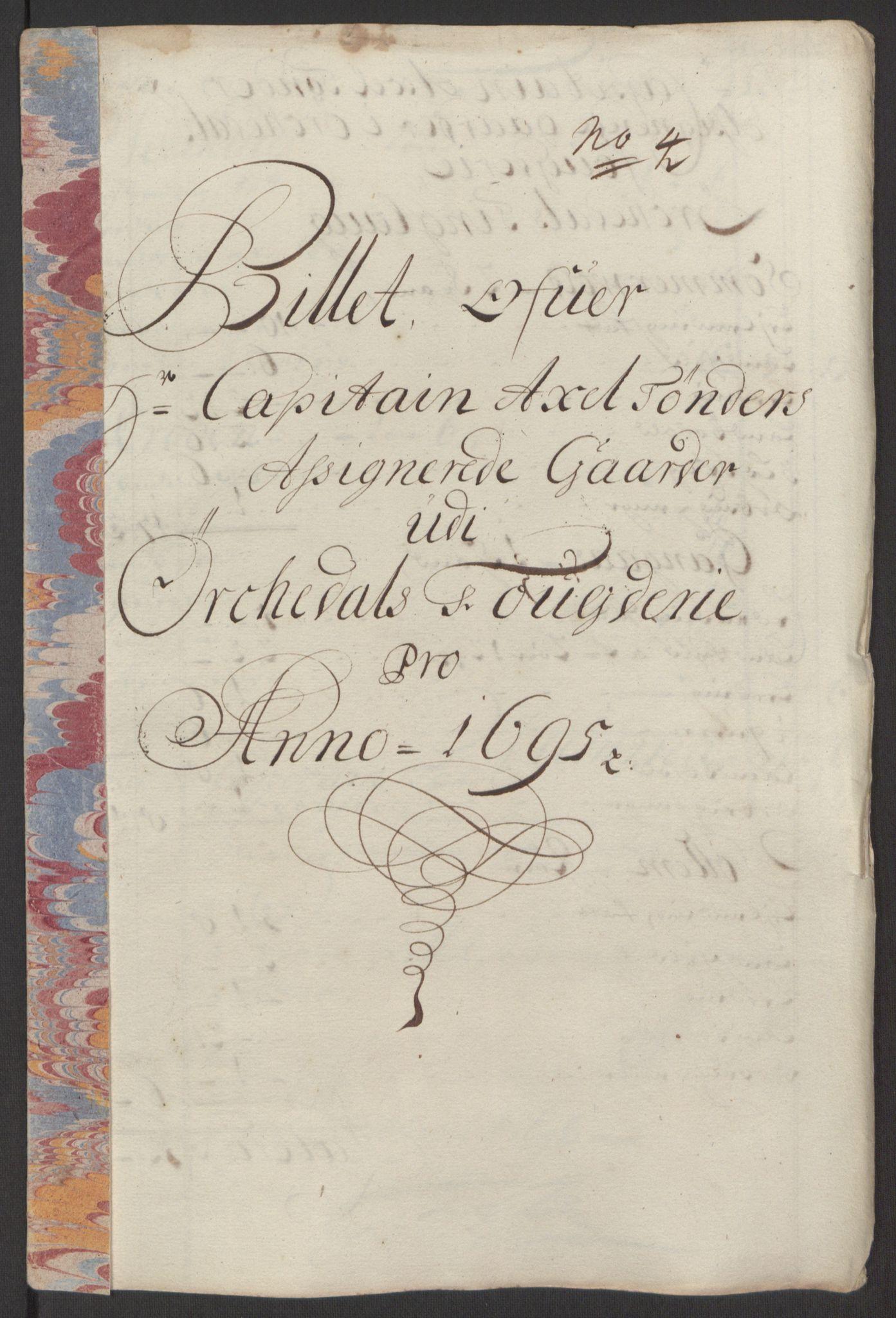 RA, Rentekammeret inntil 1814, Reviderte regnskaper, Fogderegnskap, R60/L3945: Fogderegnskap Orkdal og Gauldal, 1695, s. 225