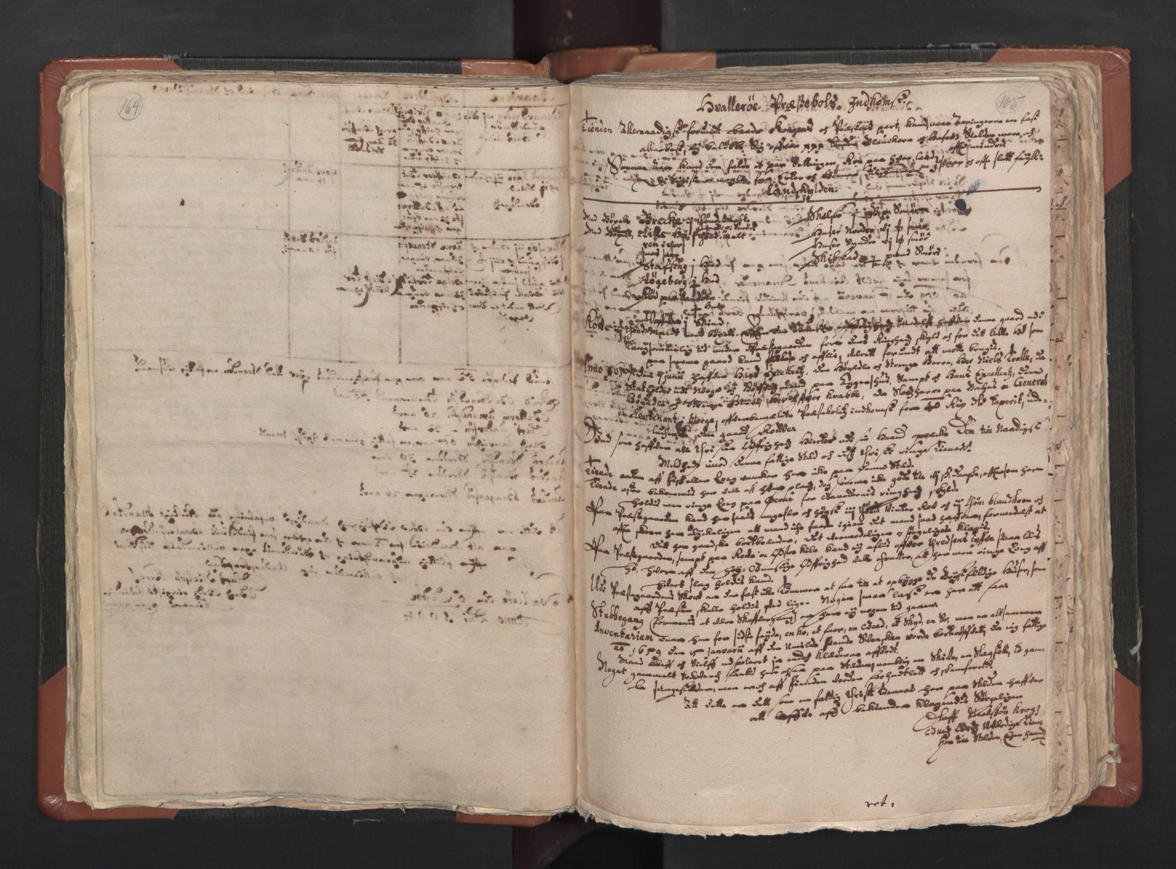 RA, Sogneprestenes manntall 1664-1666, nr. 1: Nedre Borgesyssel prosti, 1664-1666, s. 164-165