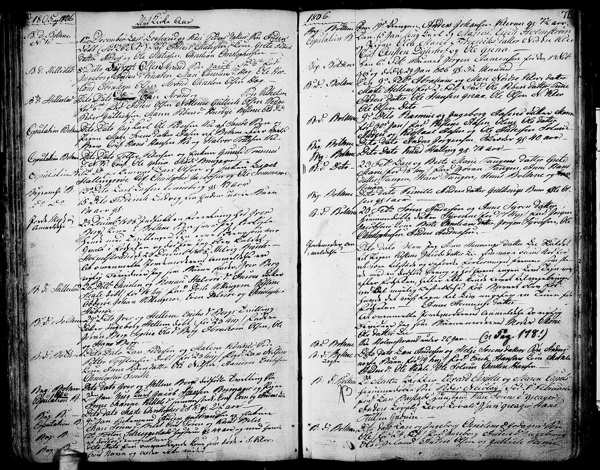 SAKO, Botne kirkebøker, F/Fa/L0003: Ministerialbok nr. I 3 /1, 1792-1844, s. 70-71