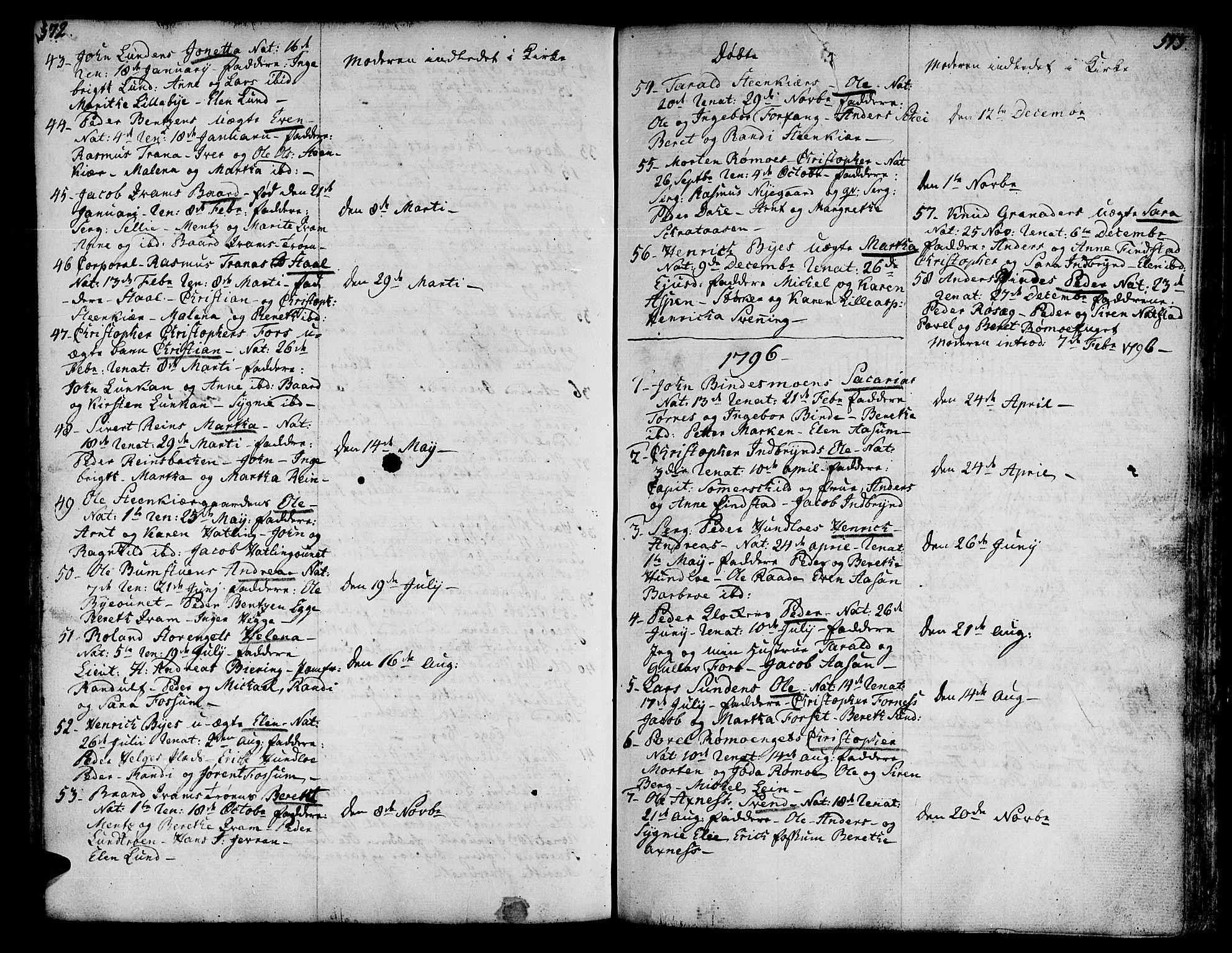 SAT, Ministerialprotokoller, klokkerbøker og fødselsregistre - Nord-Trøndelag, 746/L0440: Ministerialbok nr. 746A02, 1760-1815, s. 572-573