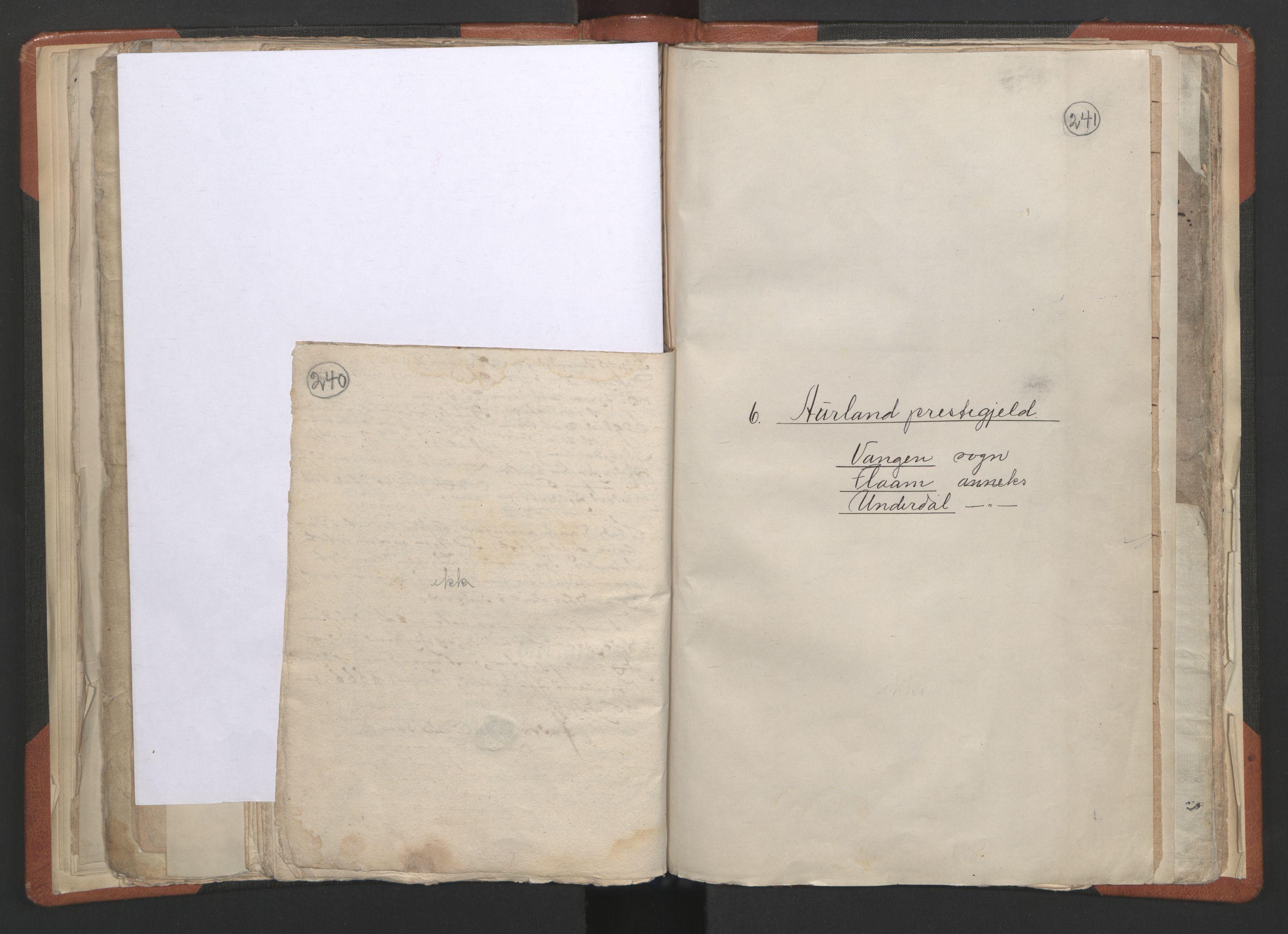 RA, Sogneprestenes manntall 1664-1666, nr. 23: Sogn prosti, 1664-1666, s. 240-241