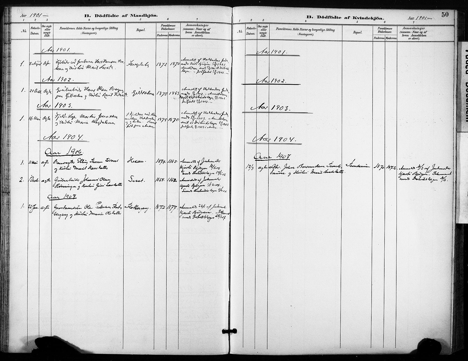 SAT, Ministerialprotokoller, klokkerbøker og fødselsregistre - Sør-Trøndelag, 685/L0973: Ministerialbok nr. 685A10, 1891-1907, s. 50