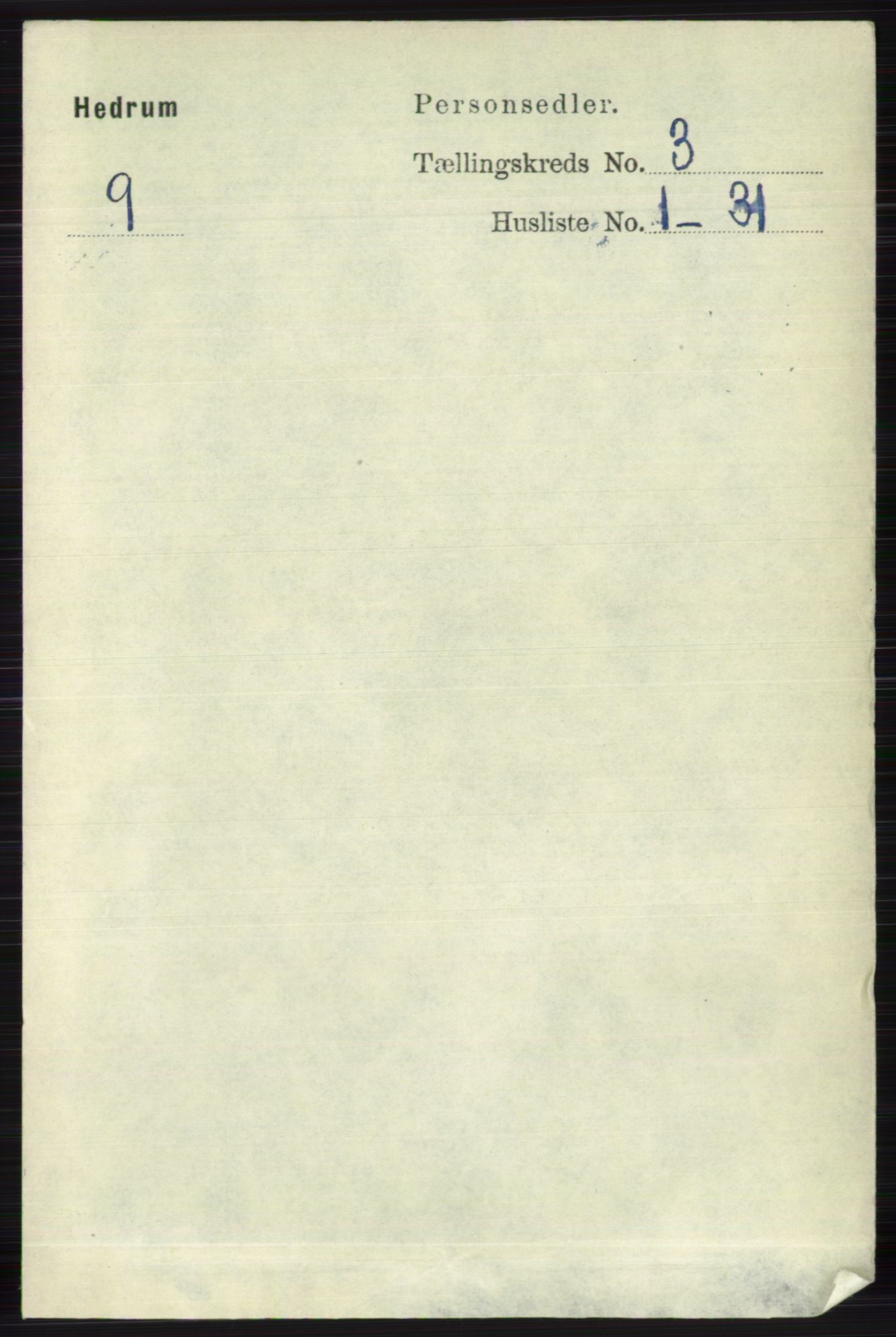 RA, Folketelling 1891 for 0727 Hedrum herred, 1891, s. 980