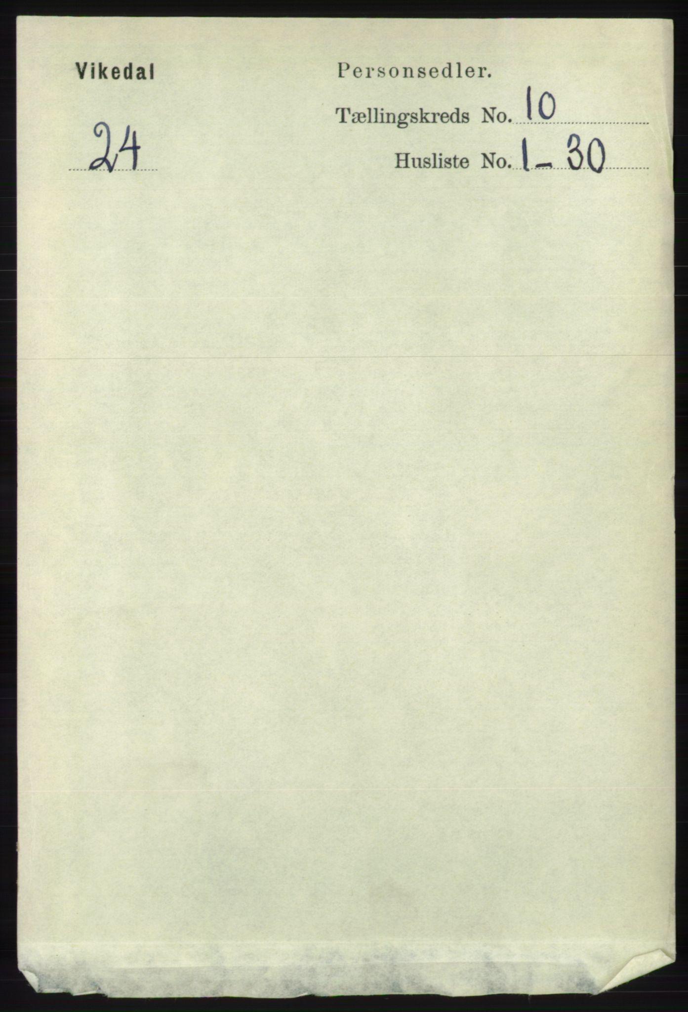 RA, Folketelling 1891 for 1157 Vikedal herred, 1891, s. 2525