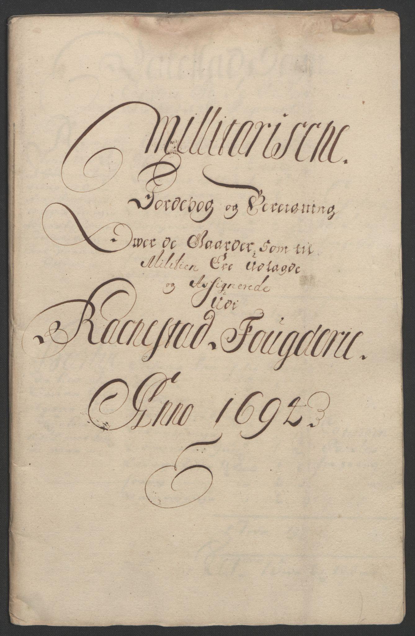 RA, Rentekammeret inntil 1814, Reviderte regnskaper, Fogderegnskap, R07/L0284: Fogderegnskap Rakkestad, Heggen og Frøland, 1694, s. 253