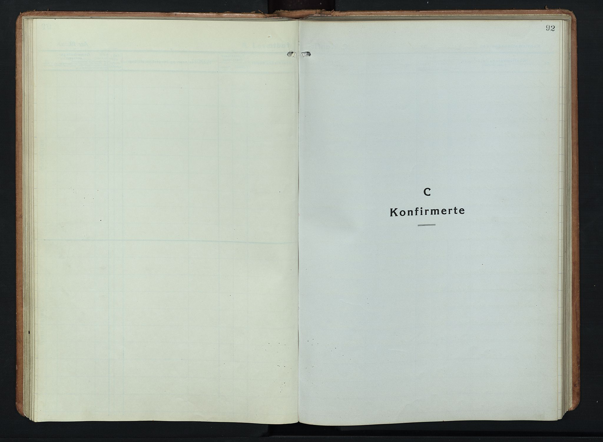 SAH, Ringebu prestekontor, Klokkerbok nr. 11, 1921-1943, s. 92