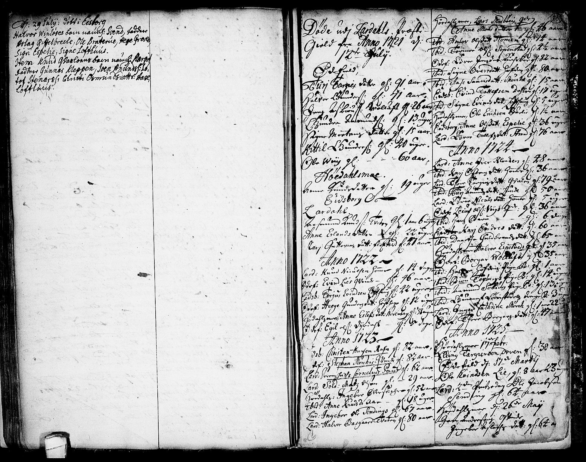 SAKO, Lårdal kirkebøker, F/Fa/L0001: Ministerialbok nr. I 1, 1721-1734, s. 80