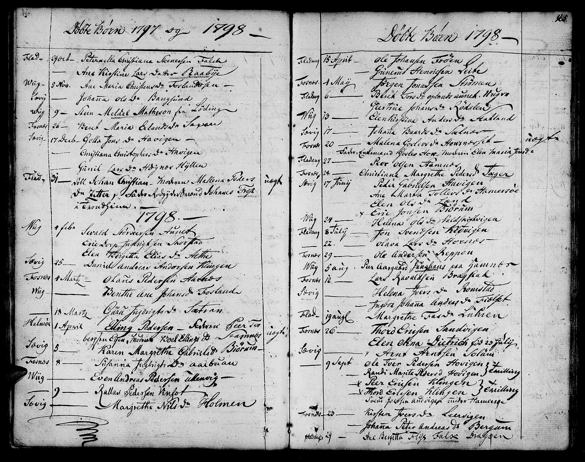 SAT, Ministerialprotokoller, klokkerbøker og fødselsregistre - Nord-Trøndelag, 773/L0608: Ministerialbok nr. 773A02, 1784-1816, s. 165