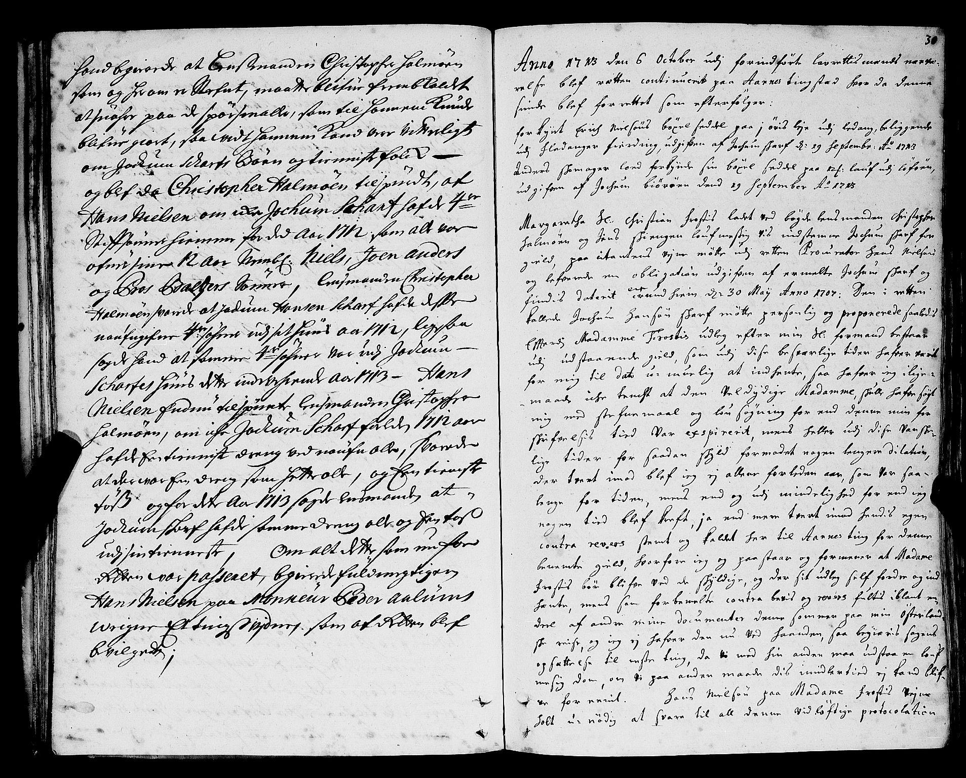 SAT, Namdal sorenskriveri, 1/1A/L0004: Tingbok, 1712-1728, s. 29b-30a