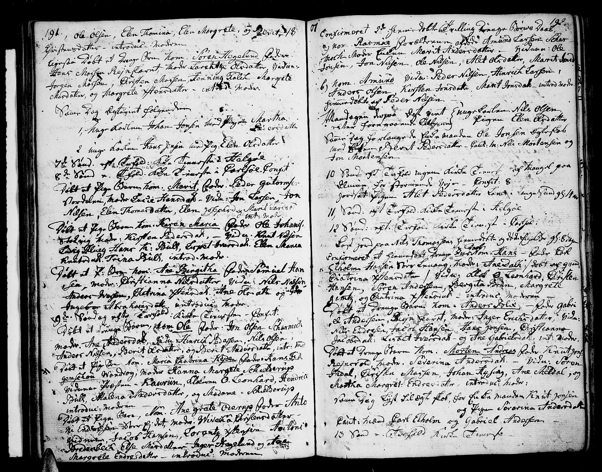 SATØ, Karlsøy sokneprestembete, Ministerialbok nr. 1, 1775-1823, s. 191-192