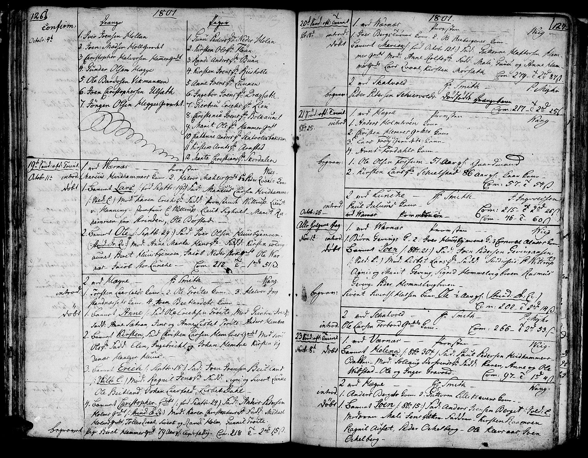 SAT, Ministerialprotokoller, klokkerbøker og fødselsregistre - Nord-Trøndelag, 709/L0060: Ministerialbok nr. 709A07, 1797-1815, s. 126-127