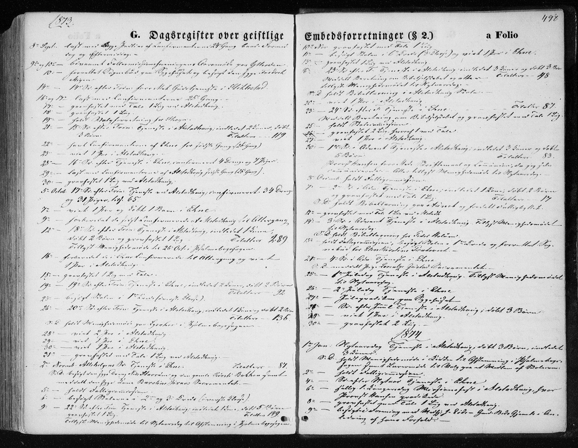 SAT, Ministerialprotokoller, klokkerbøker og fødselsregistre - Nord-Trøndelag, 717/L0157: Ministerialbok nr. 717A08 /1, 1863-1877, s. 498
