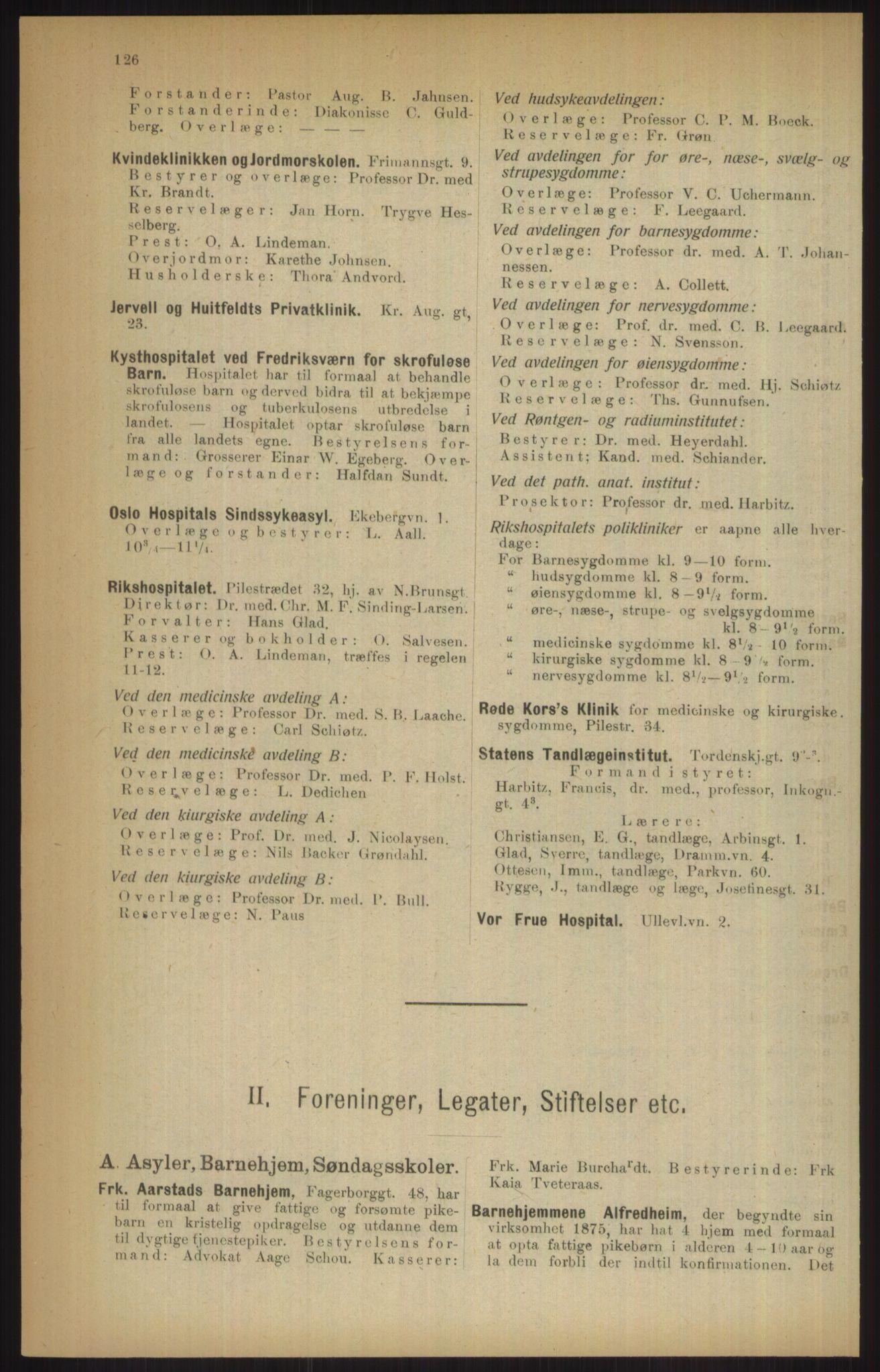 RA, Kristiania adressebok (publikasjon)*, 1915, s. 126