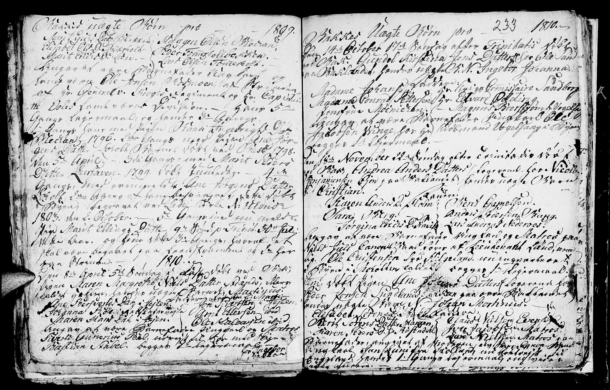 SAT, Ministerialprotokoller, klokkerbøker og fødselsregistre - Sør-Trøndelag, 604/L0218: Klokkerbok nr. 604C01, 1754-1819, s. 233