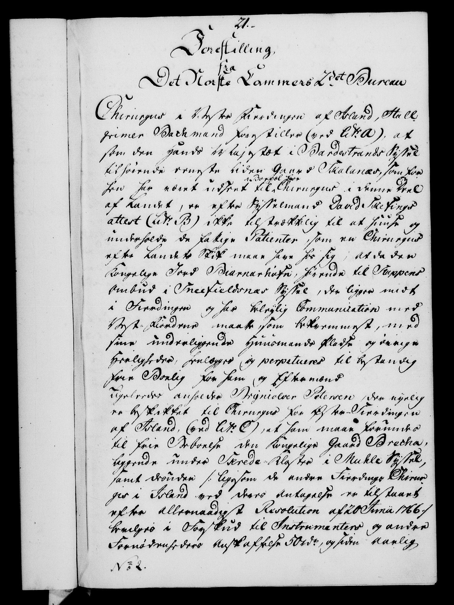 RA, Rentekammeret, Kammerkanselliet, G/Gf/Gfa/L0054: Norsk relasjons- og resolusjonsprotokoll (merket RK 52.54), 1771-1772, s. 264