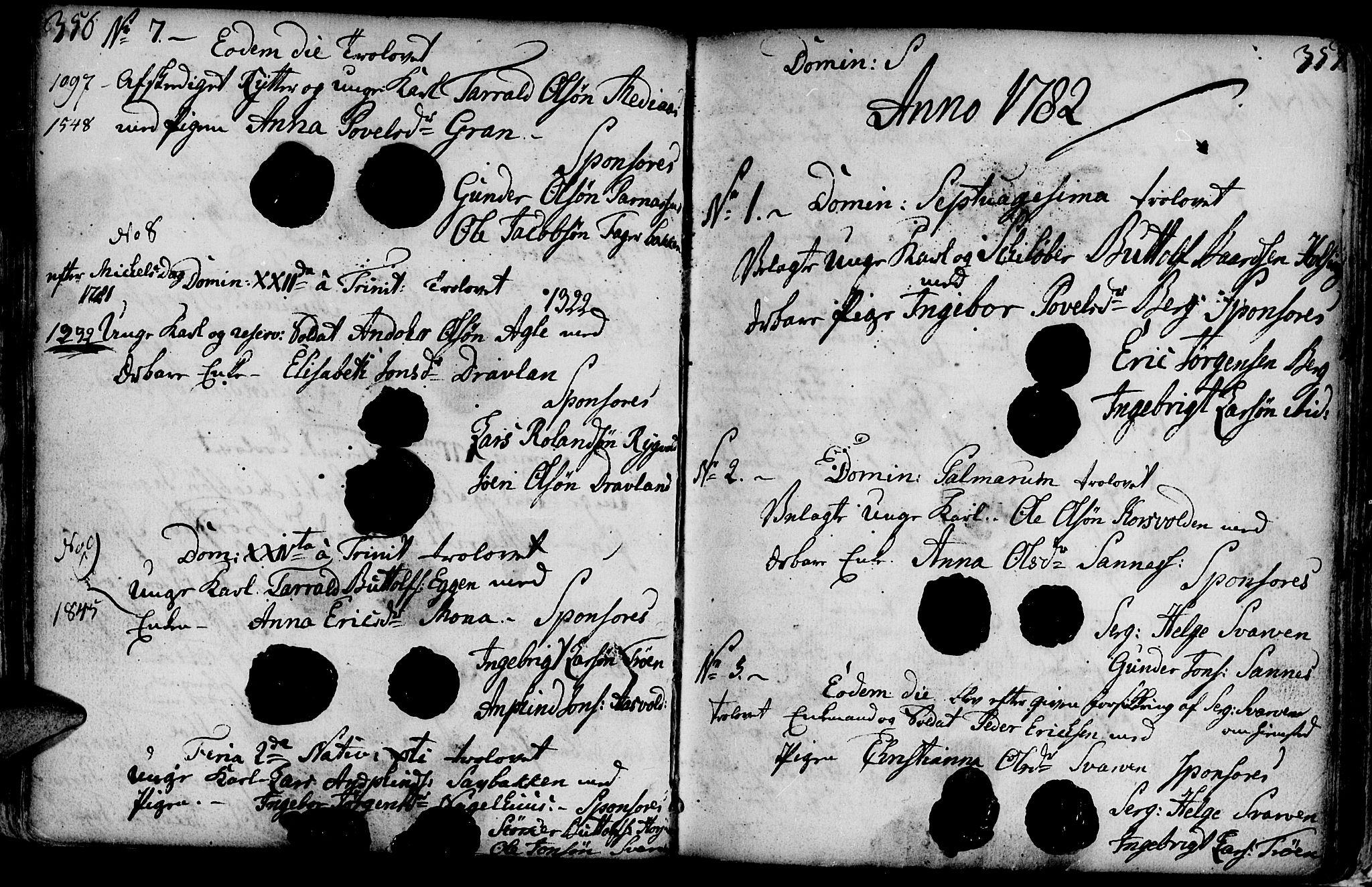 SAT, Ministerialprotokoller, klokkerbøker og fødselsregistre - Nord-Trøndelag, 749/L0467: Ministerialbok nr. 749A01, 1733-1787, s. 356-357