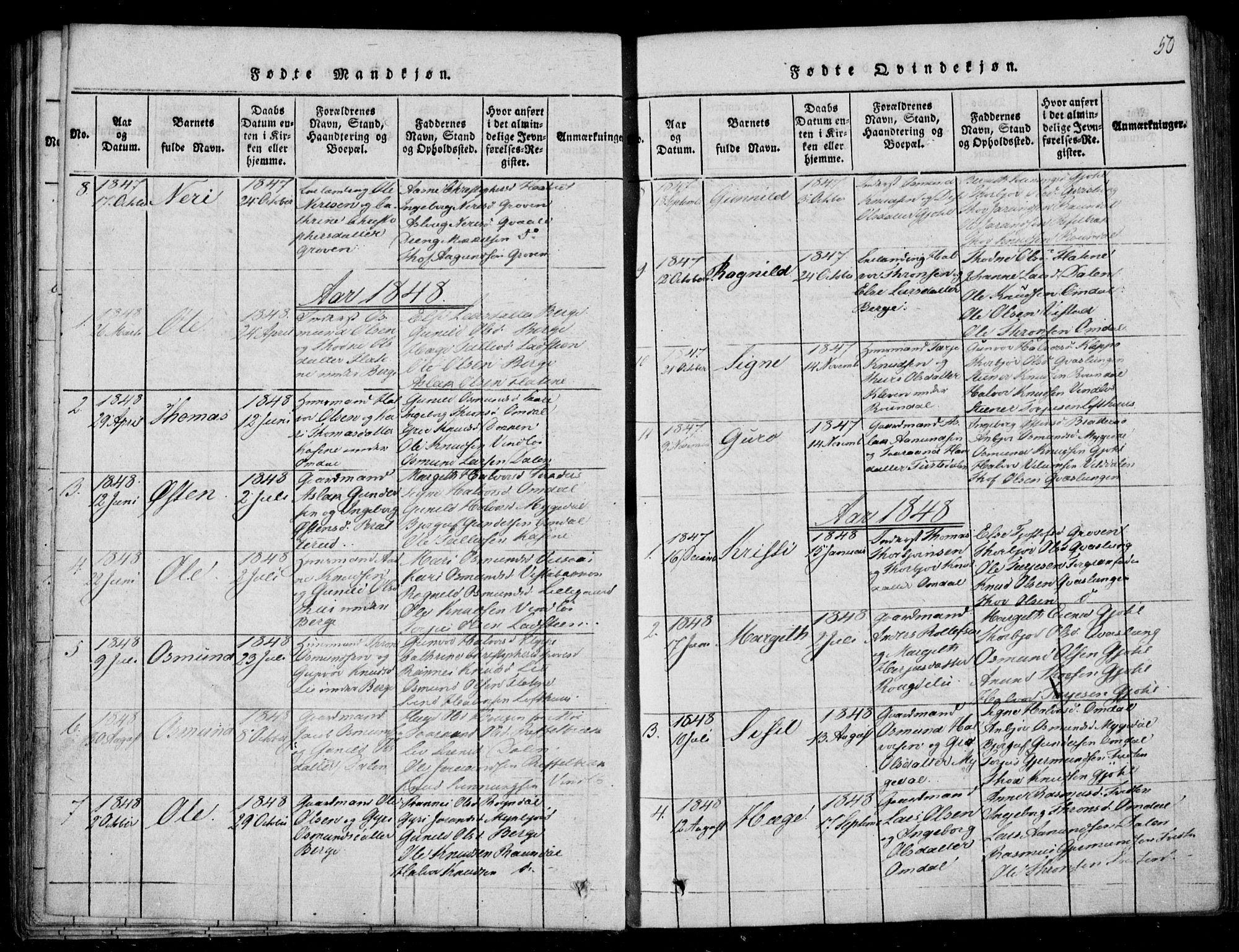 SAKO, Lårdal kirkebøker, F/Fb/L0001: Ministerialbok nr. II 1, 1815-1860, s. 50