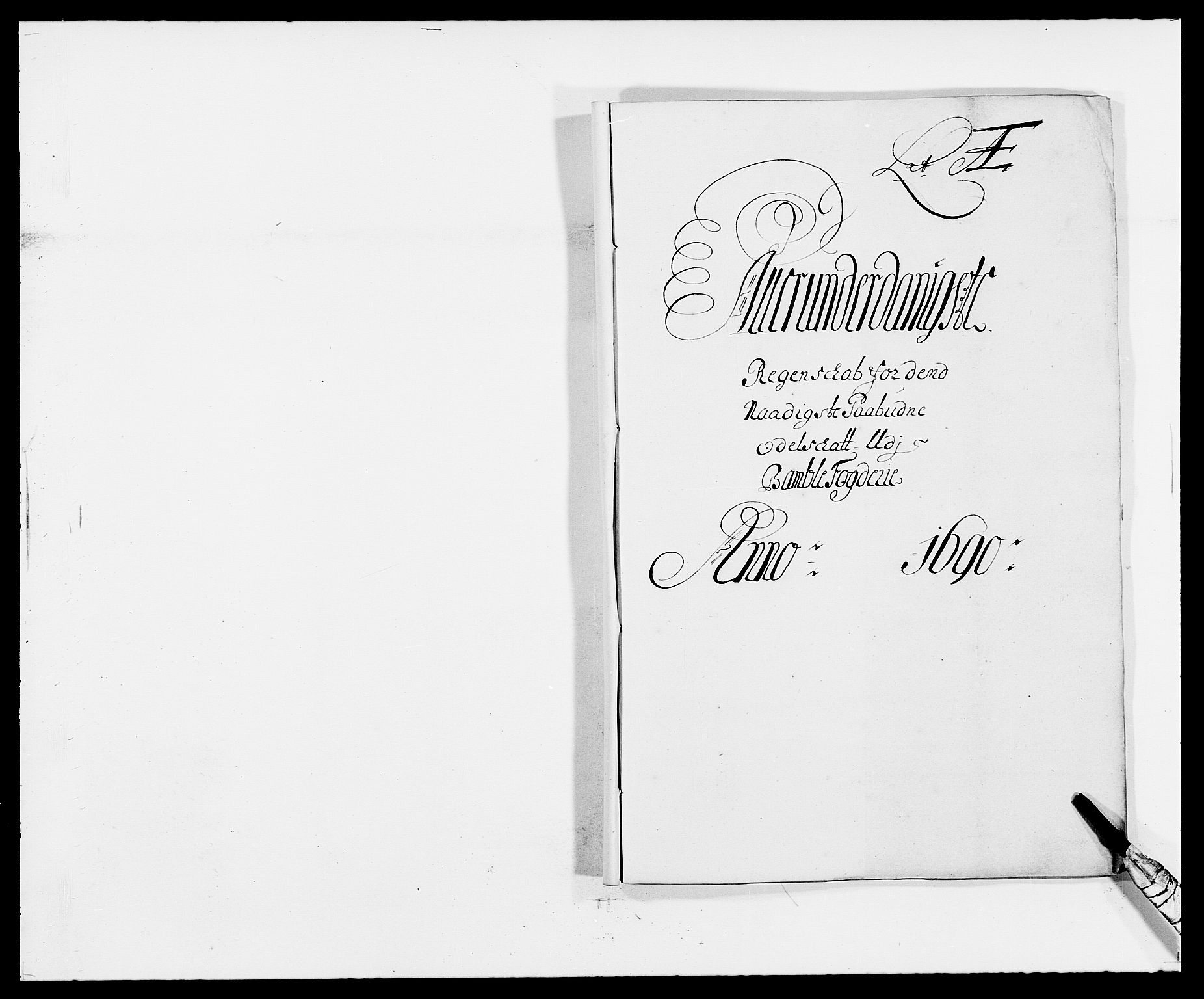 RA, Rentekammeret inntil 1814, Reviderte regnskaper, Fogderegnskap, R34/L2051: Fogderegnskap Bamble, 1688-1691, s. 40