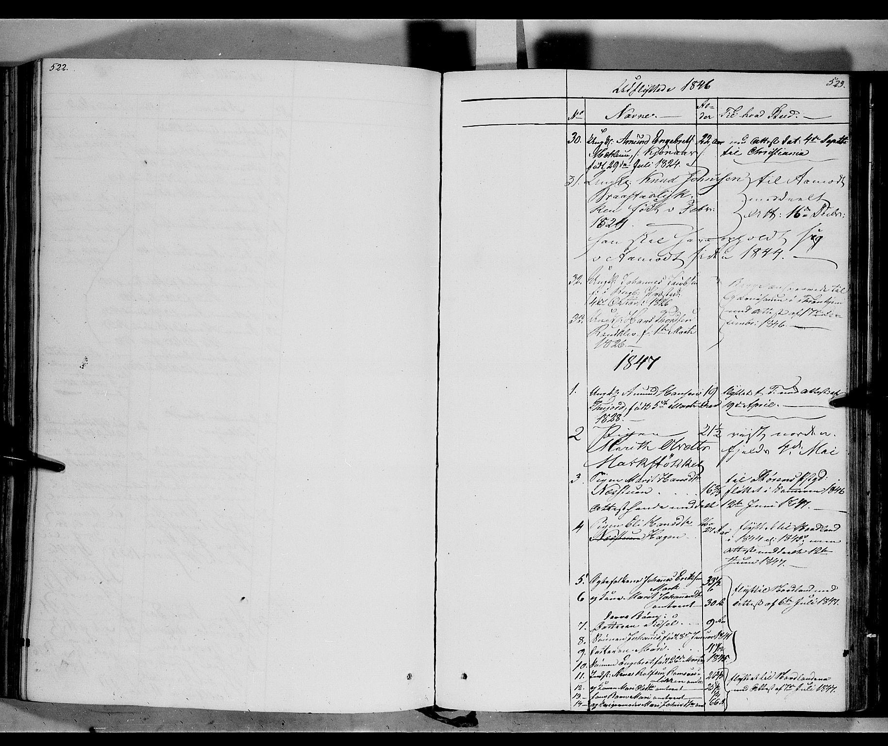 SAH, Ringebu prestekontor, Ministerialbok nr. 5, 1839-1848, s. 522-523