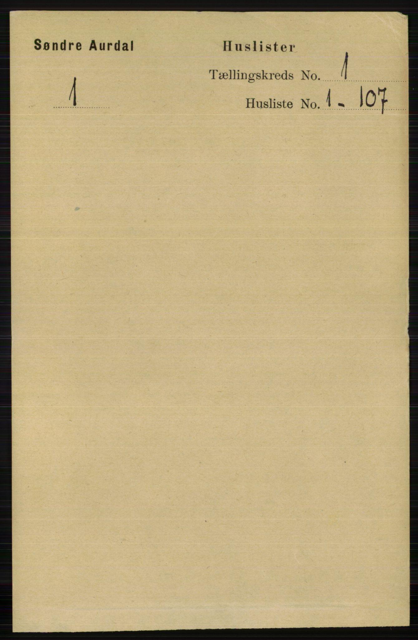 RA, Folketelling 1891 for 0540 Sør-Aurdal herred, 1891, s. 32