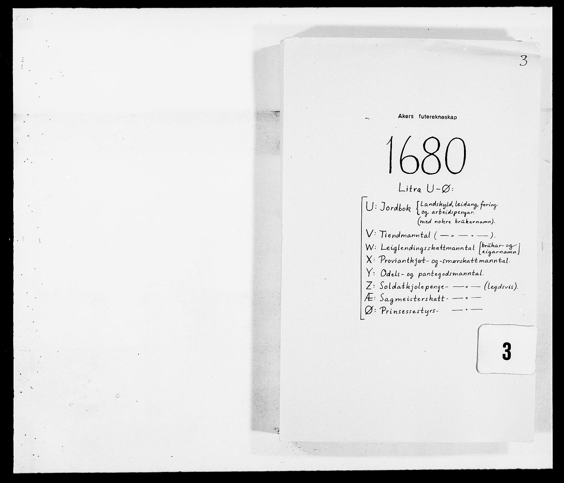 RA, Rentekammeret inntil 1814, Reviderte regnskaper, Fogderegnskap, R08/L0417: Fogderegnskap Aker, 1678-1681, s. 1
