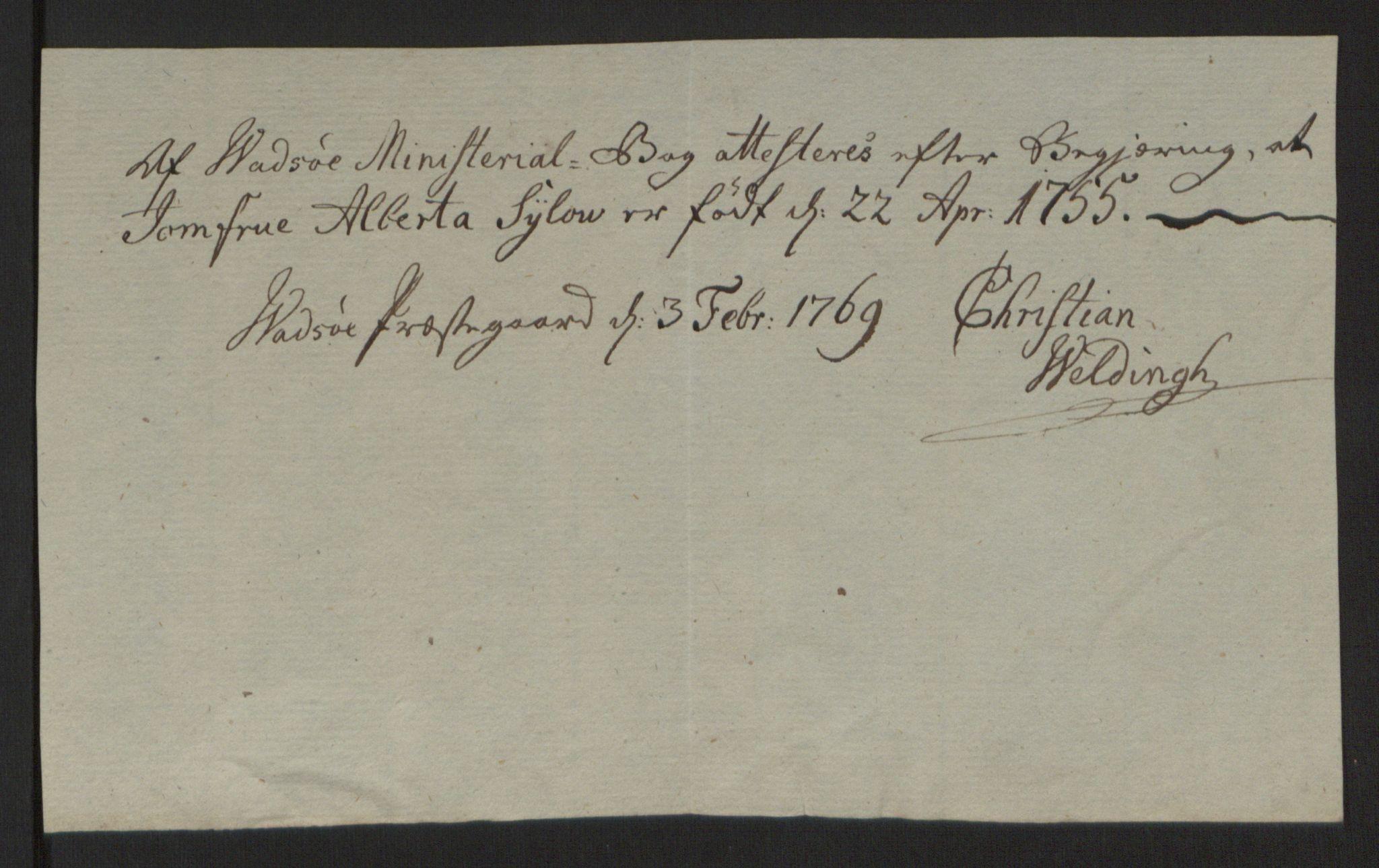 RA, Rentekammeret inntil 1814, Reviderte regnskaper, Fogderegnskap, R69/L4910: Ekstraskatten  Finnmark/Vardøhus, 1762-1772, s. 289