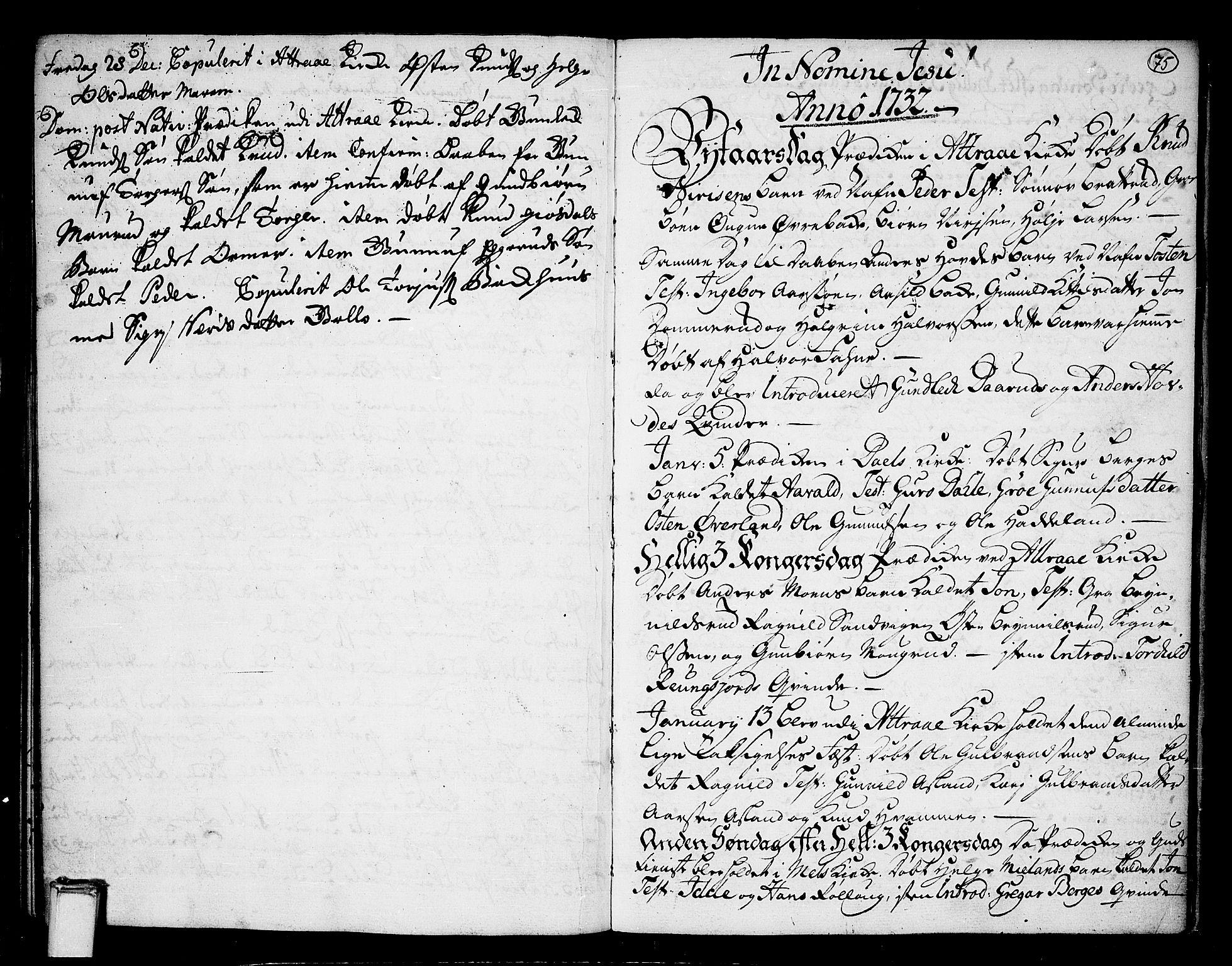 SAKO, Tinn kirkebøker, F/Fa/L0001: Ministerialbok nr. I 1, 1717-1734, s. 75
