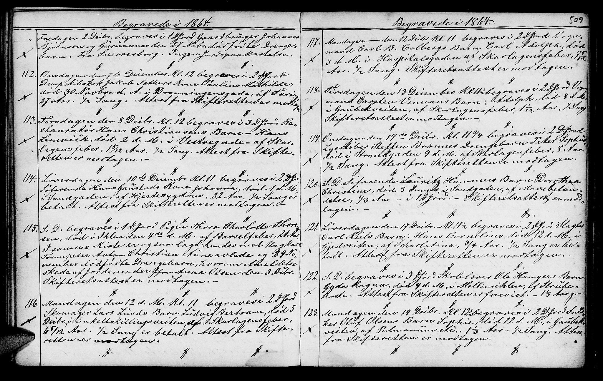 SAT, Ministerialprotokoller, klokkerbøker og fødselsregistre - Sør-Trøndelag, 602/L0140: Klokkerbok nr. 602C08, 1864-1872, s. 508-509