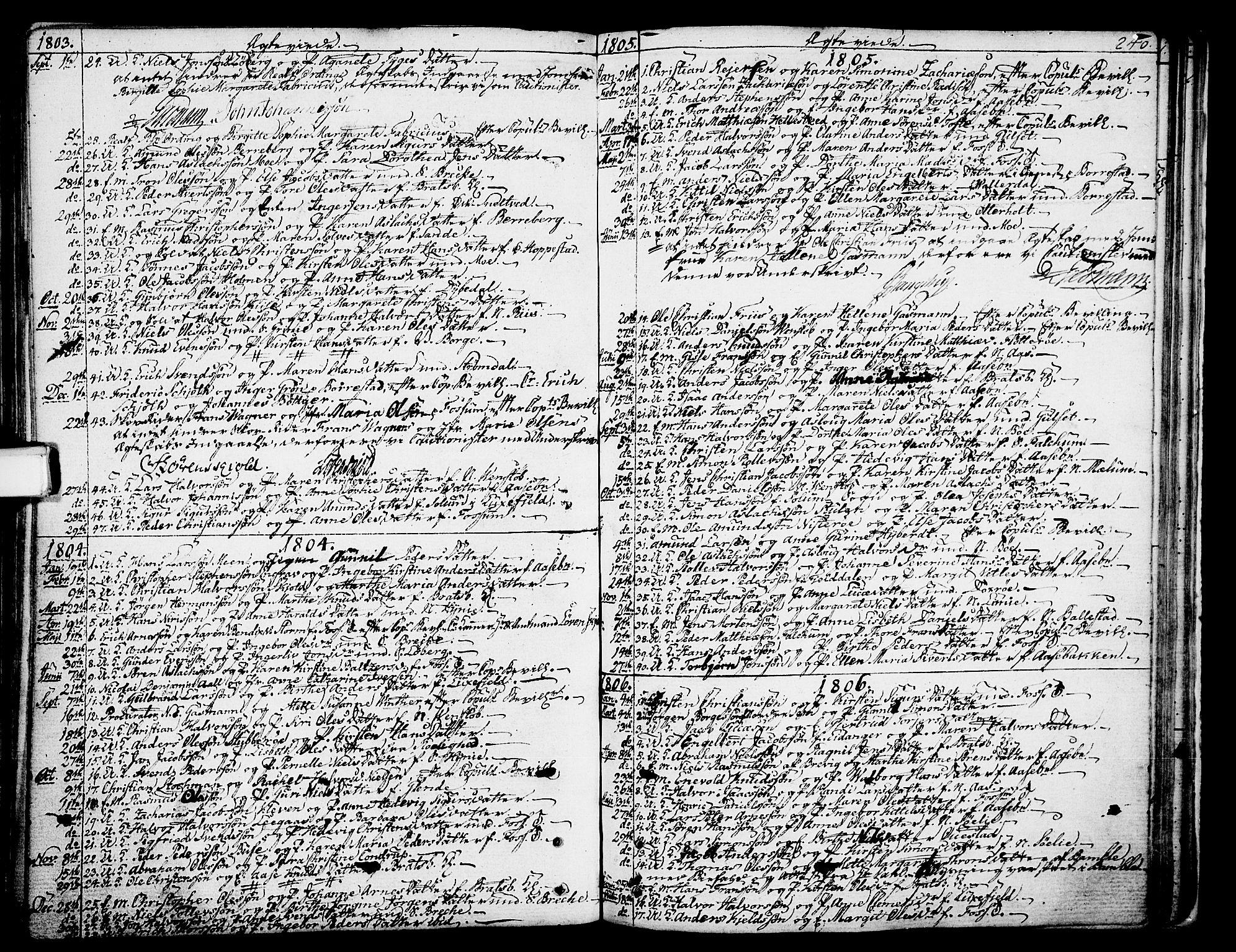 SAKO, Gjerpen kirkebøker, F/Fa/L0003: Ministerialbok nr. 3, 1796-1814, s. 240