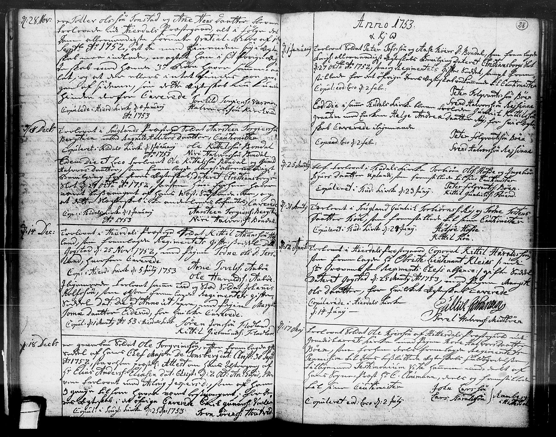 SAKO, Hjartdal kirkebøker, F/Fa/L0004: Ministerialbok nr. I 4, 1727-1795, s. 28