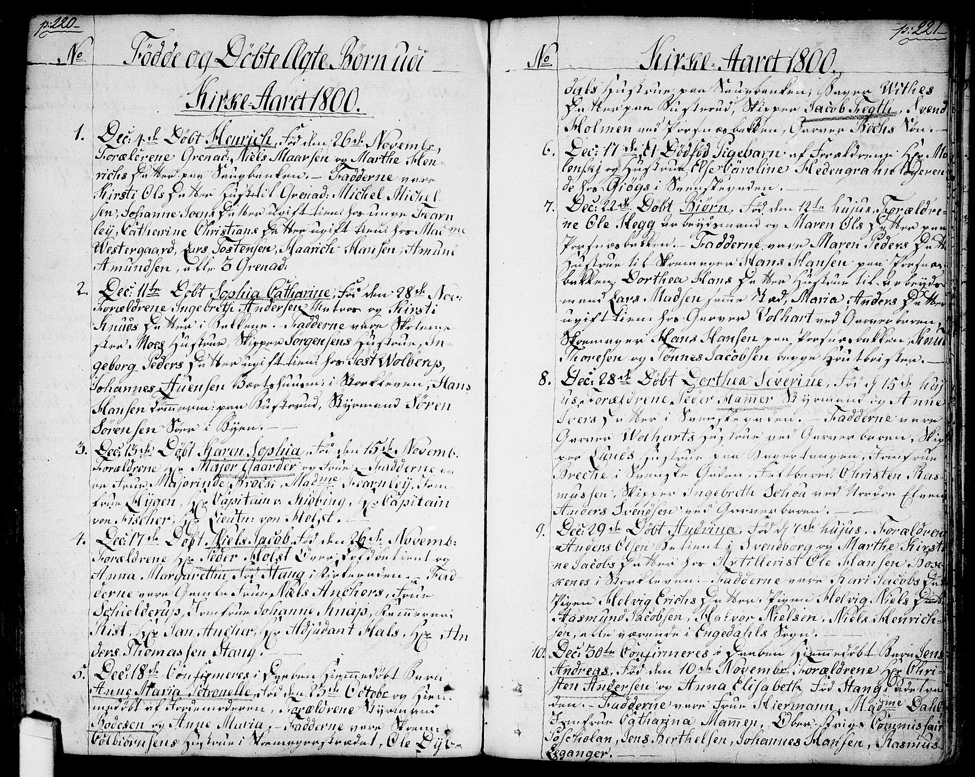 SAO, Halden prestekontor Kirkebøker, F/Fa/L0002: Ministerialbok nr. I 2, 1792-1812, s. 220-221