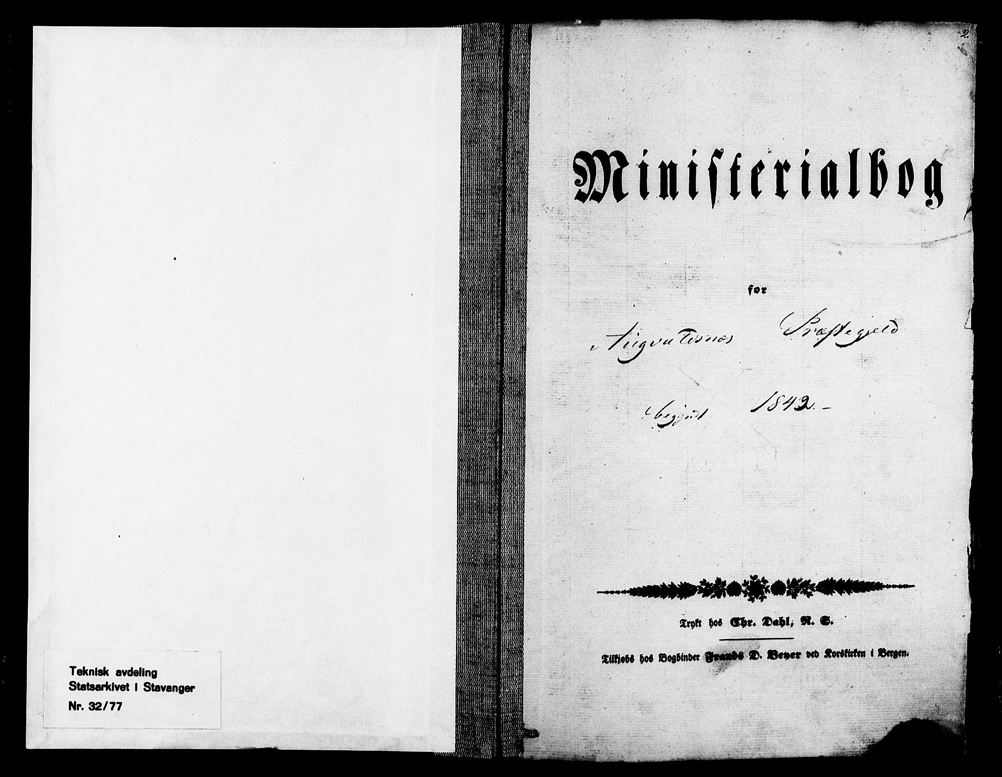 SAST, Avaldsnes sokneprestkontor, H/Ha/Haa/L0007: Ministerialbok nr. A 7, 1841-1853