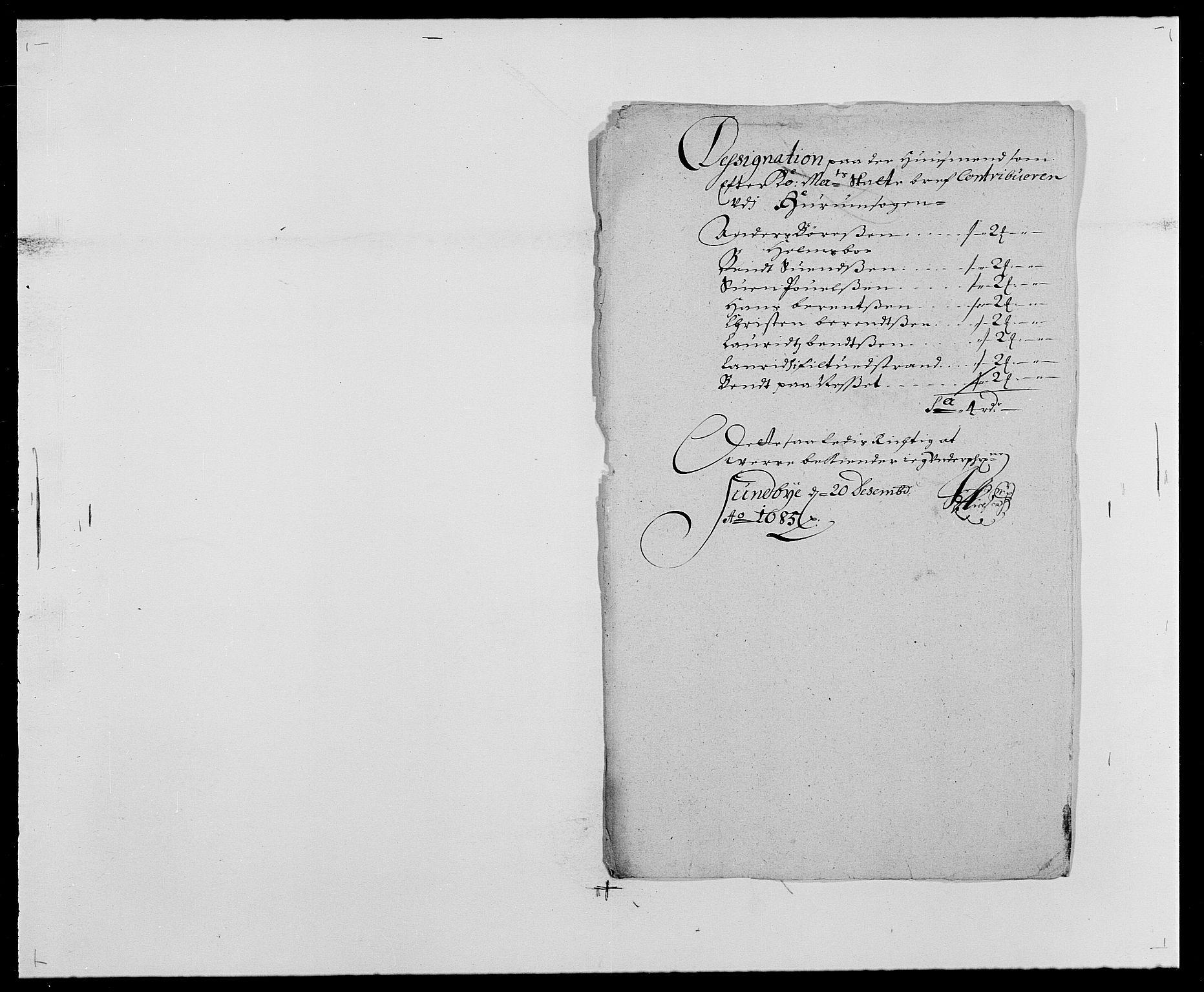 RA, Rentekammeret inntil 1814, Reviderte regnskaper, Fogderegnskap, R29/L1692: Fogderegnskap Hurum og Røyken, 1682-1687, s. 252