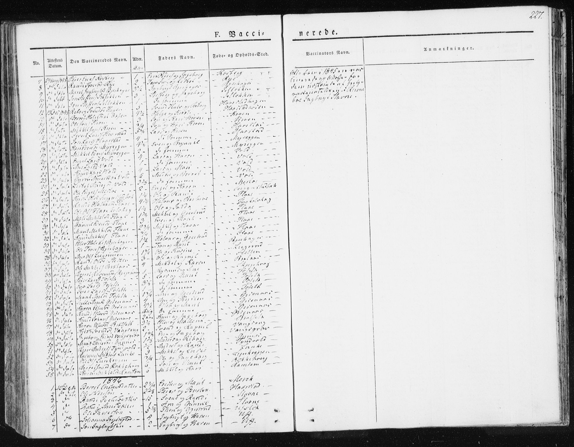 SAT, Ministerialprotokoller, klokkerbøker og fødselsregistre - Sør-Trøndelag, 674/L0869: Ministerialbok nr. 674A01, 1829-1860, s. 227