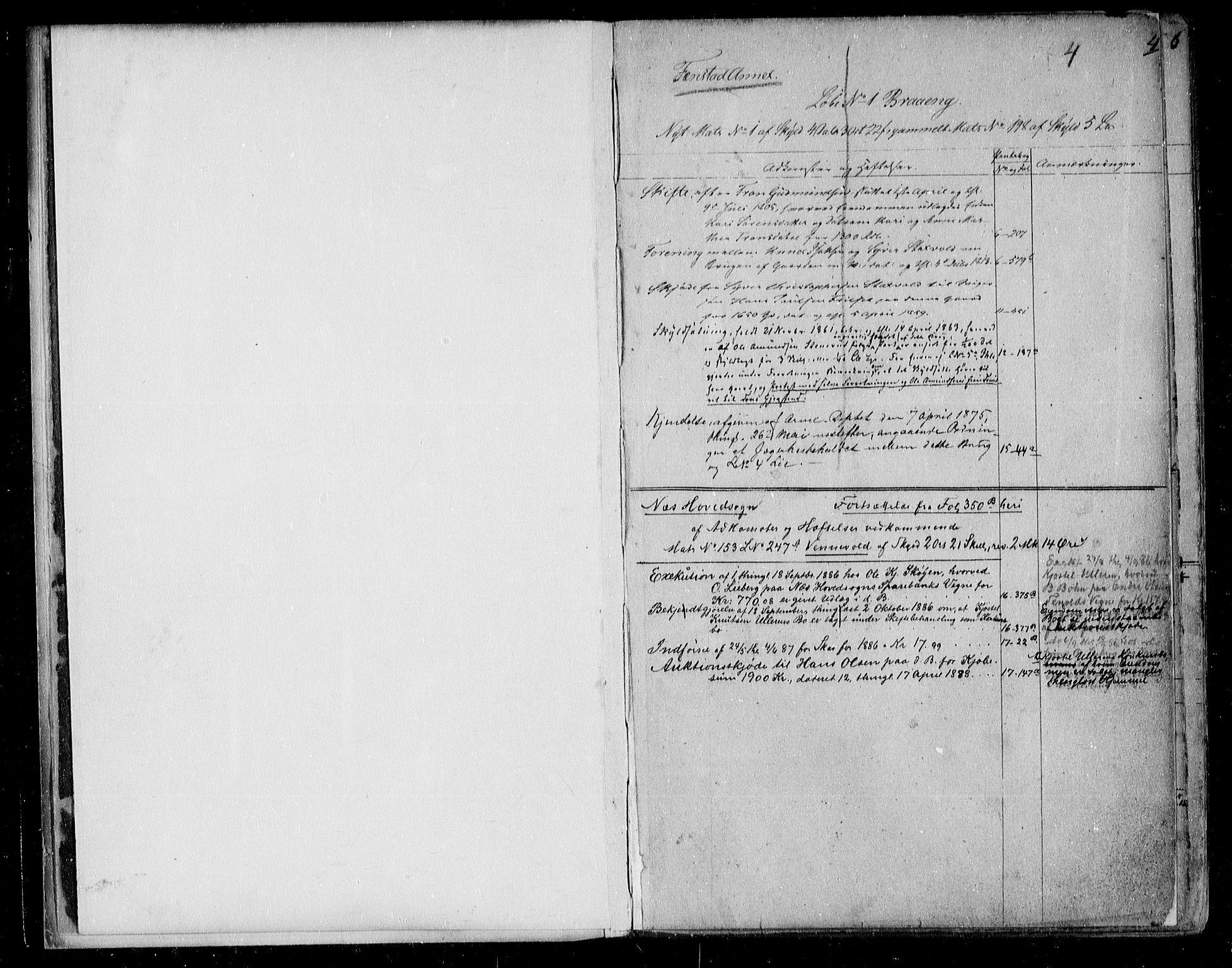 SAO, Nes tingrett, G/Ga/Gab/Gaba/L0001.a: Panteregister nr. I 1a, s. 4