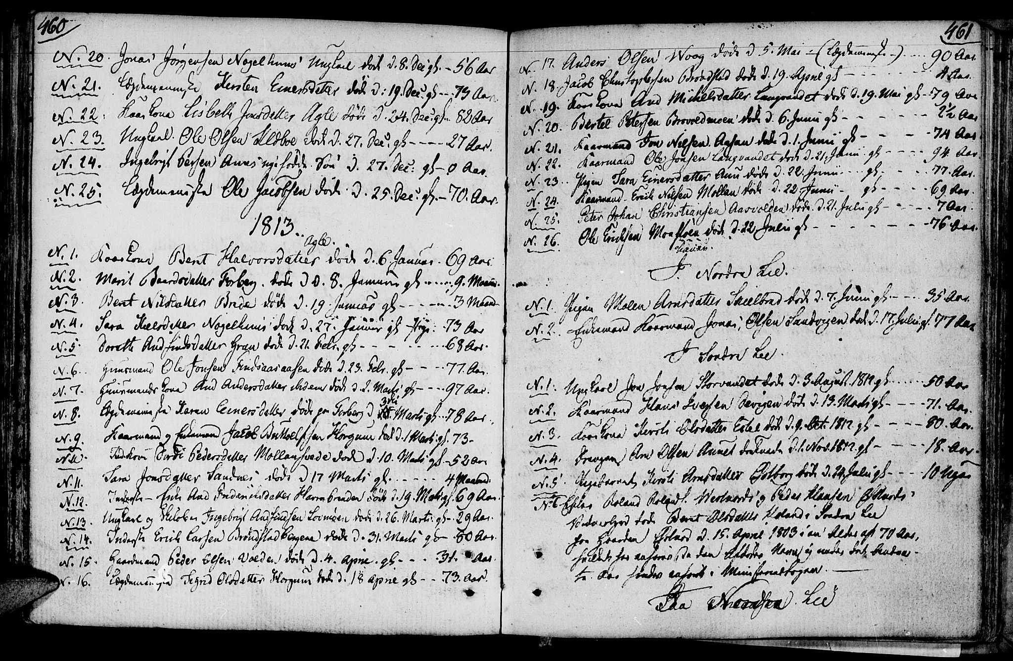 SAT, Ministerialprotokoller, klokkerbøker og fødselsregistre - Nord-Trøndelag, 749/L0468: Ministerialbok nr. 749A02, 1787-1817, s. 460-461