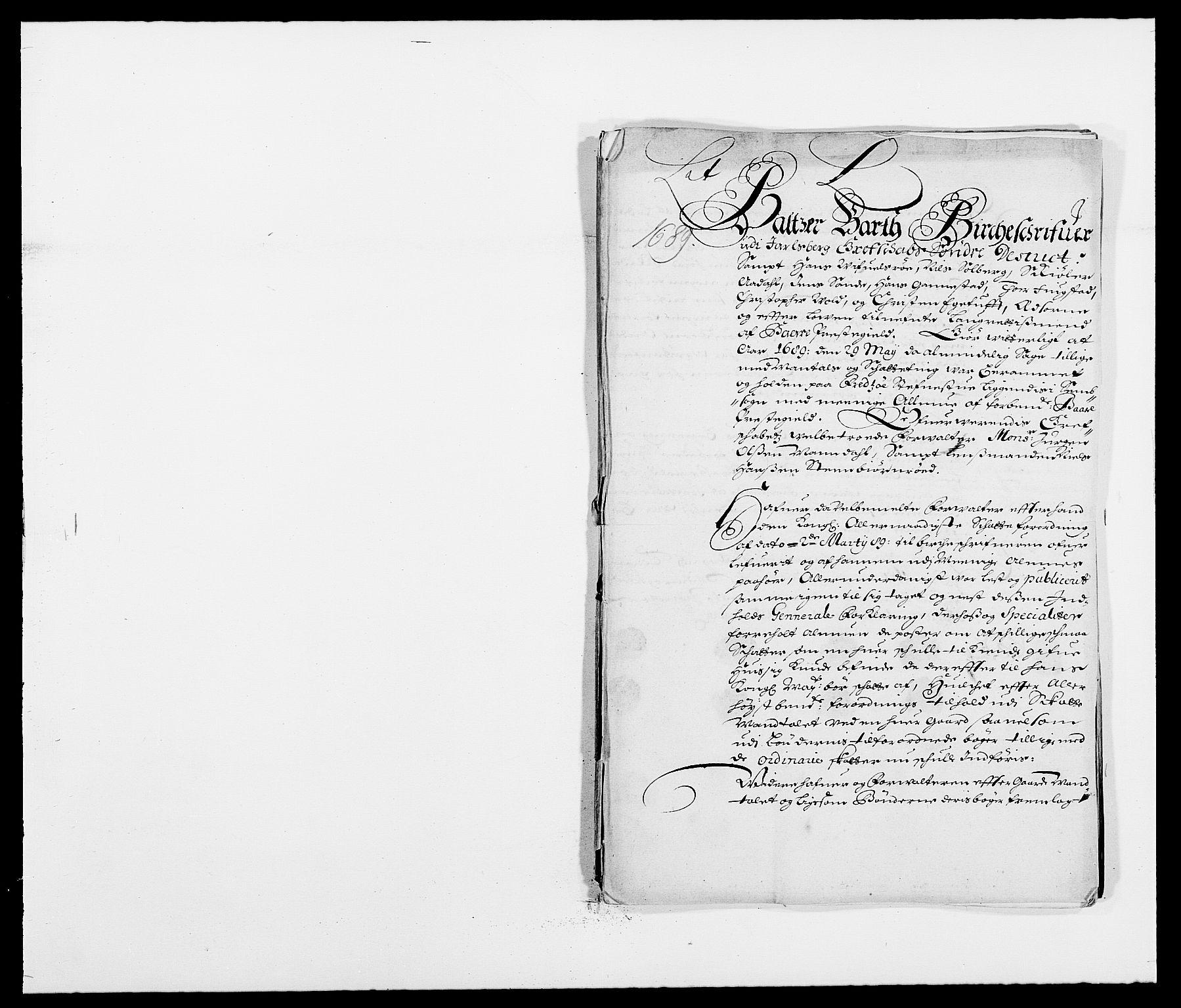 RA, Rentekammeret inntil 1814, Reviderte regnskaper, Fogderegnskap, R32/L1860: Fogderegnskap Jarlsberg grevskap, 1686-1690, s. 468