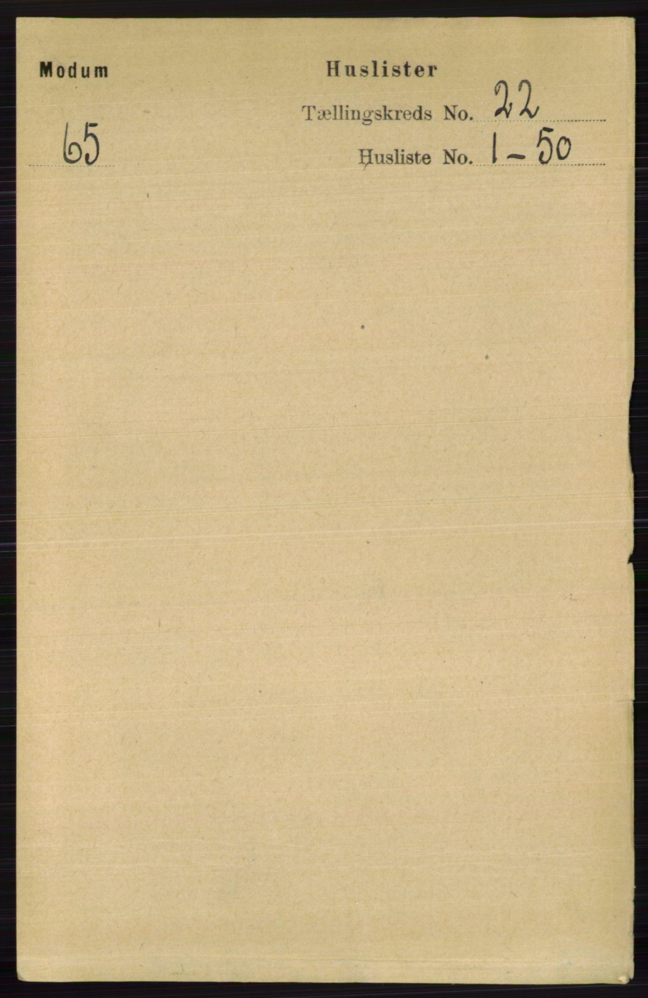 RA, Folketelling 1891 for 0623 Modum herred, 1891, s. 8336