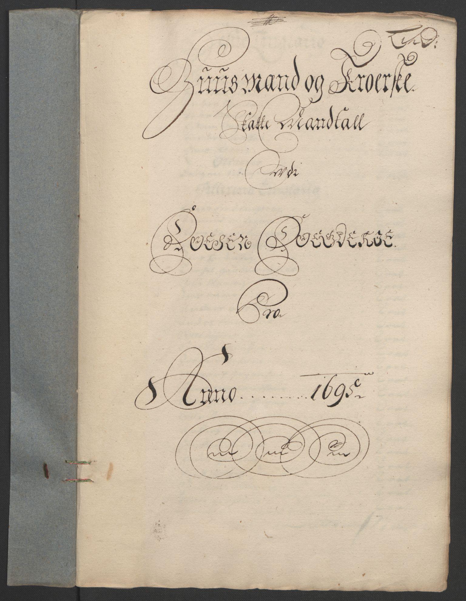 RA, Rentekammeret inntil 1814, Reviderte regnskaper, Fogderegnskap, R57/L3851: Fogderegnskap Fosen, 1695-1696, s. 81